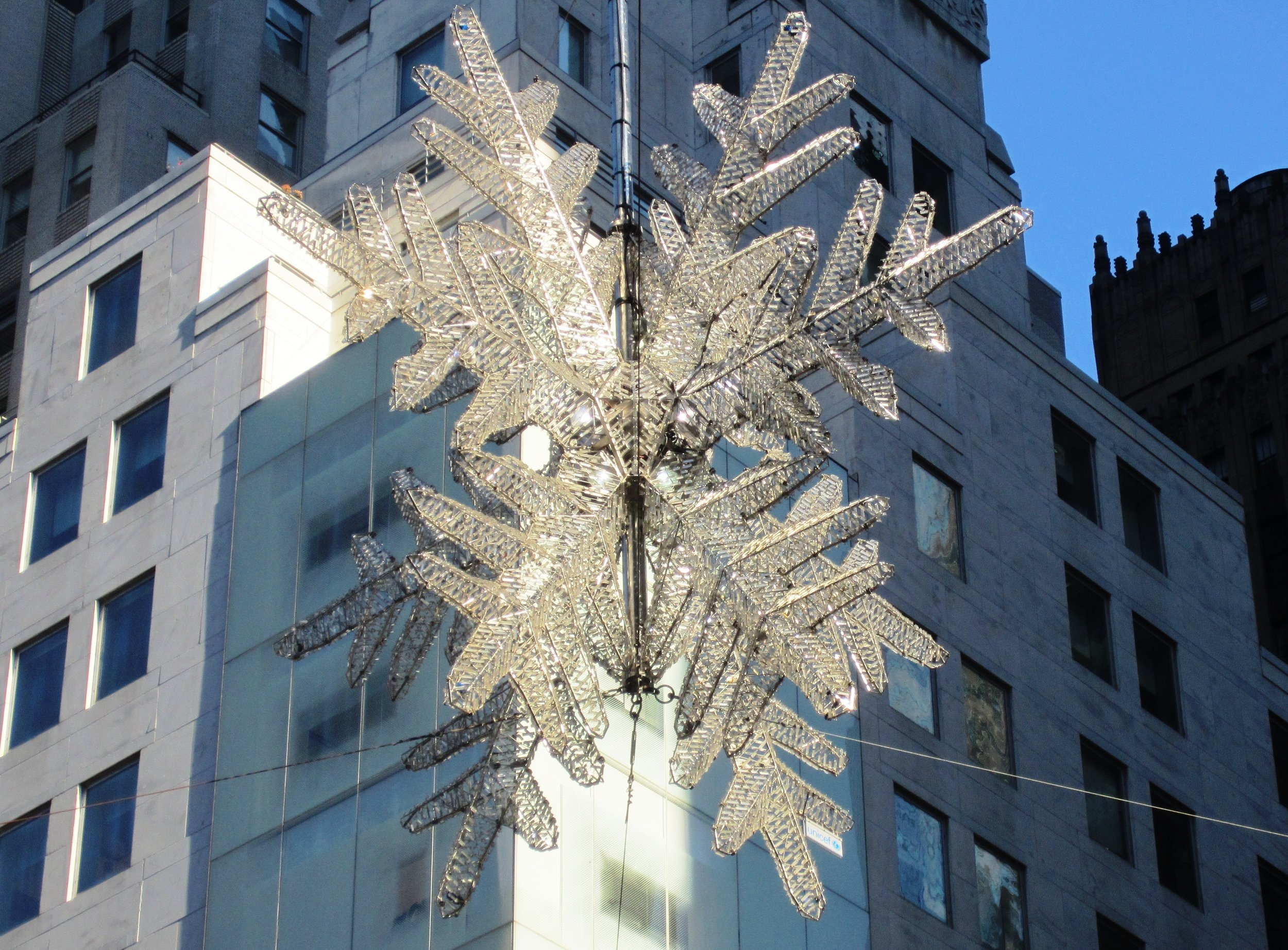 The UNICEF snowflake to top all of your trees, bushes, brushes, window sills, etc