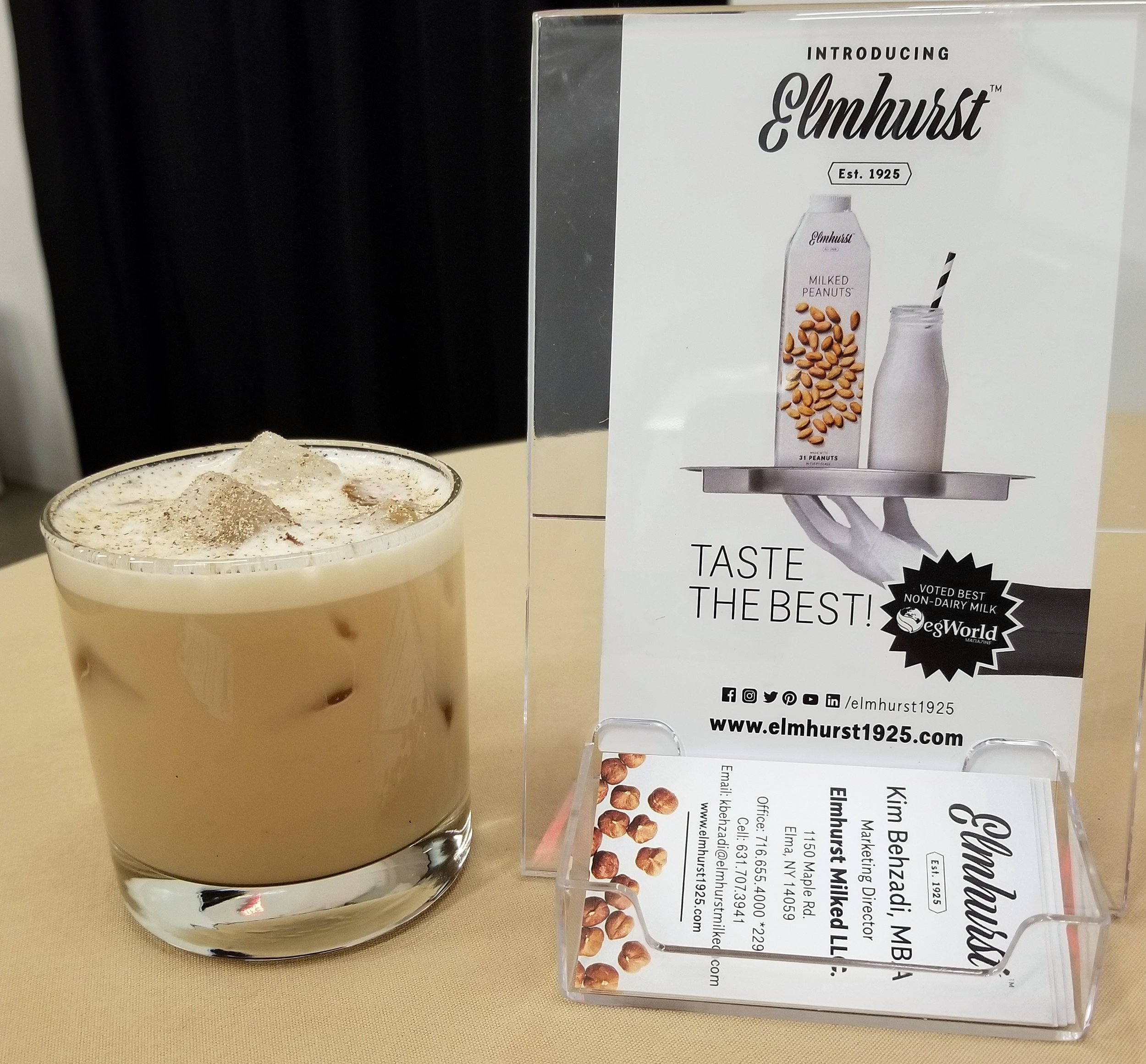 Nutty Muddy: Coffee-Infused Vodka, Milked Peanuts, Banana Liqueur, Vanilla Syrup