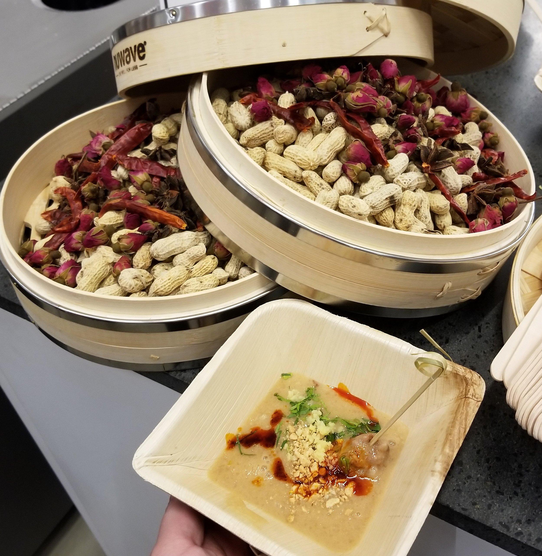 Milked Peanuts Congee with Juicy Pork Meatball