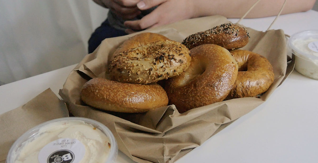 MMMMM....look at those bagels! I can almost taste them! These are Bo's Bagels in all of their shimmery glory! That's the prefect color for a bagel. Photo Credit:  Culture Clock
