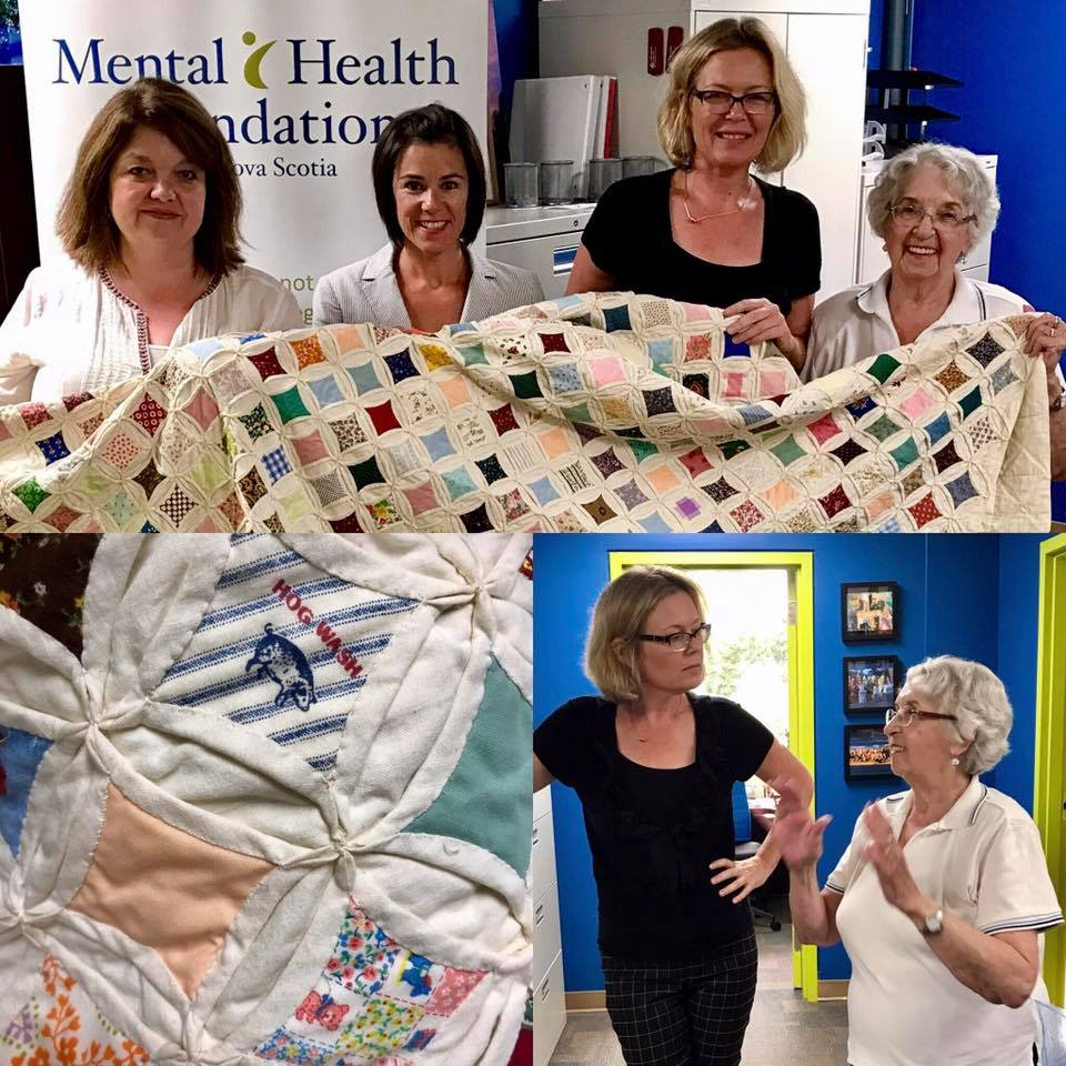 Theresa stopped by to drop off another beautifully hand-crafted Blankets of Love quilt for inpatient mental health clients.Blankets of Love is a program created by a mental health patient for mental health patients and is truly inspiring.