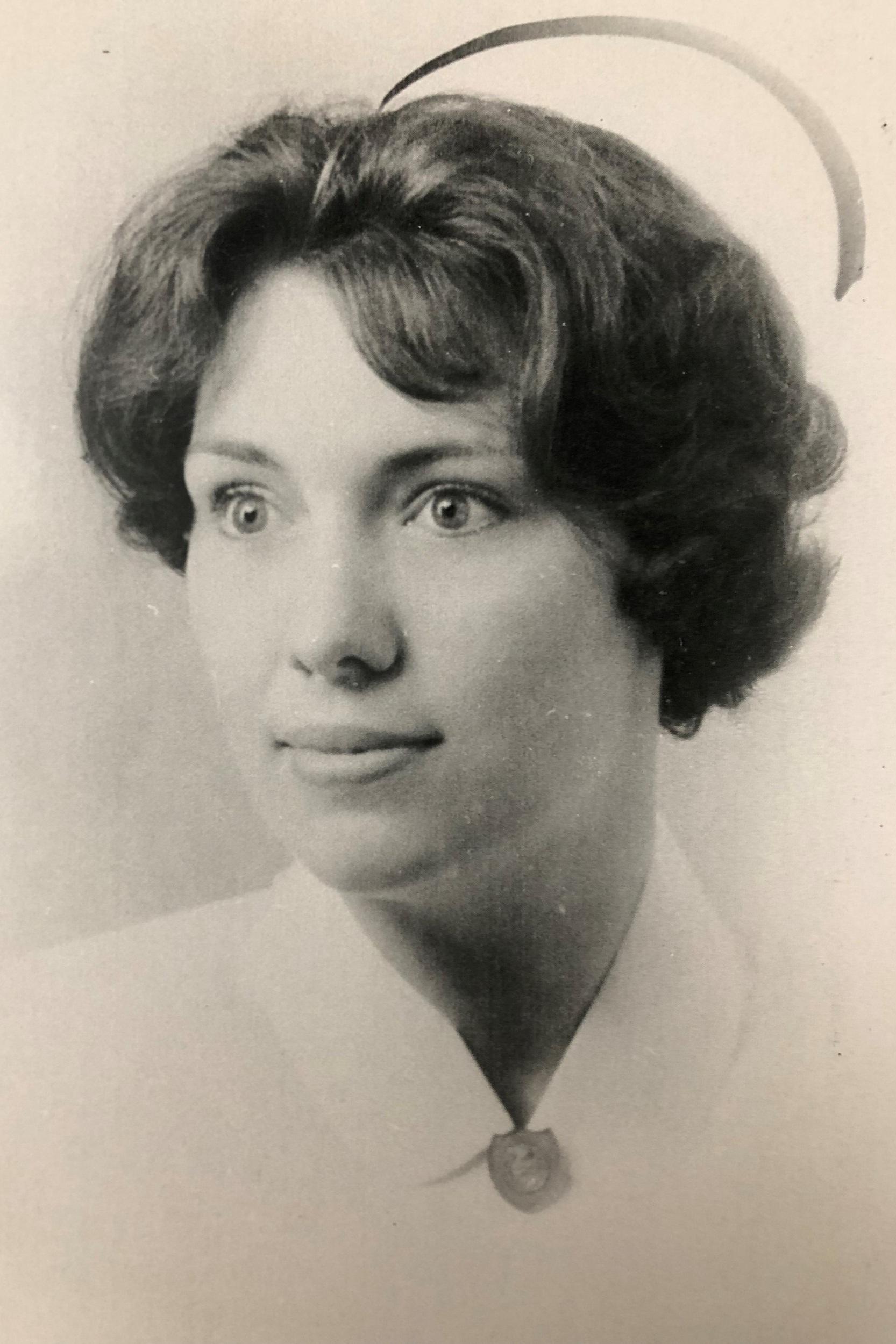Marilyn Bright, Nursing School Graduation Photo