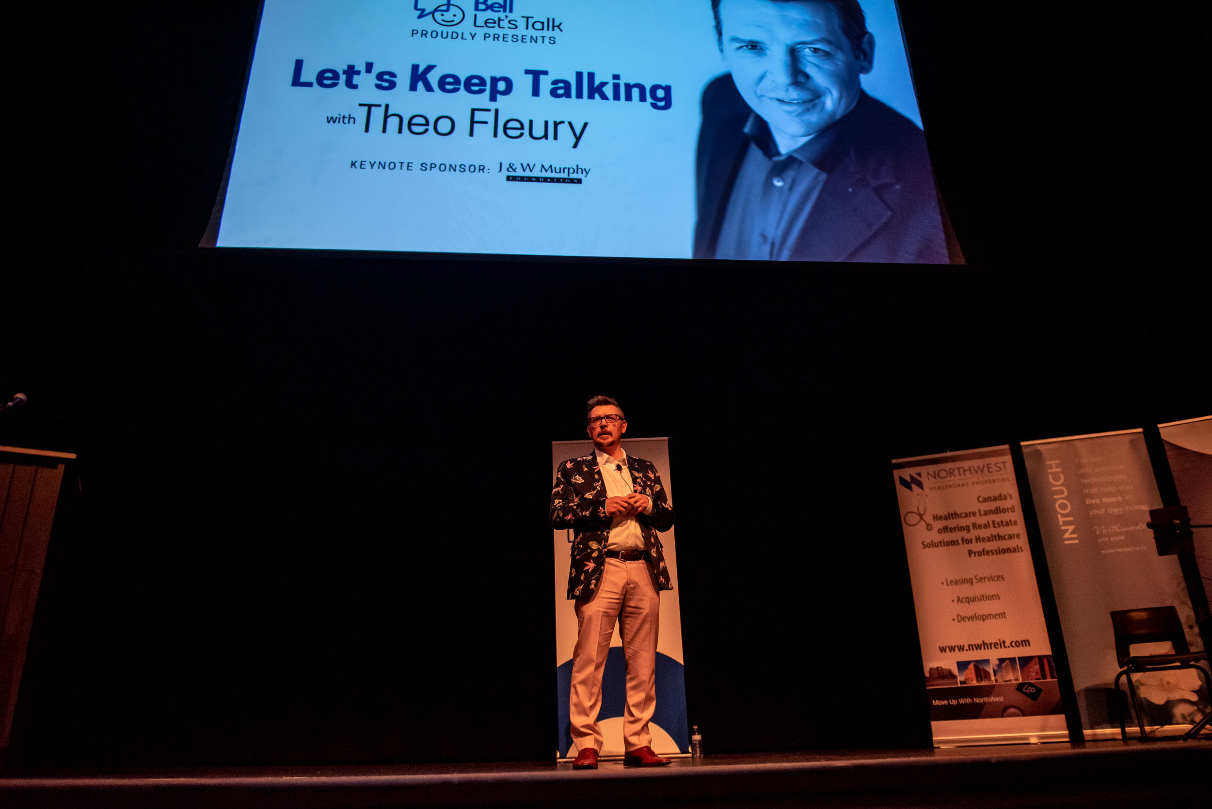 Keynote Speaker Theo Fleury shares his story of triumph over mental illness, trauma and addiction