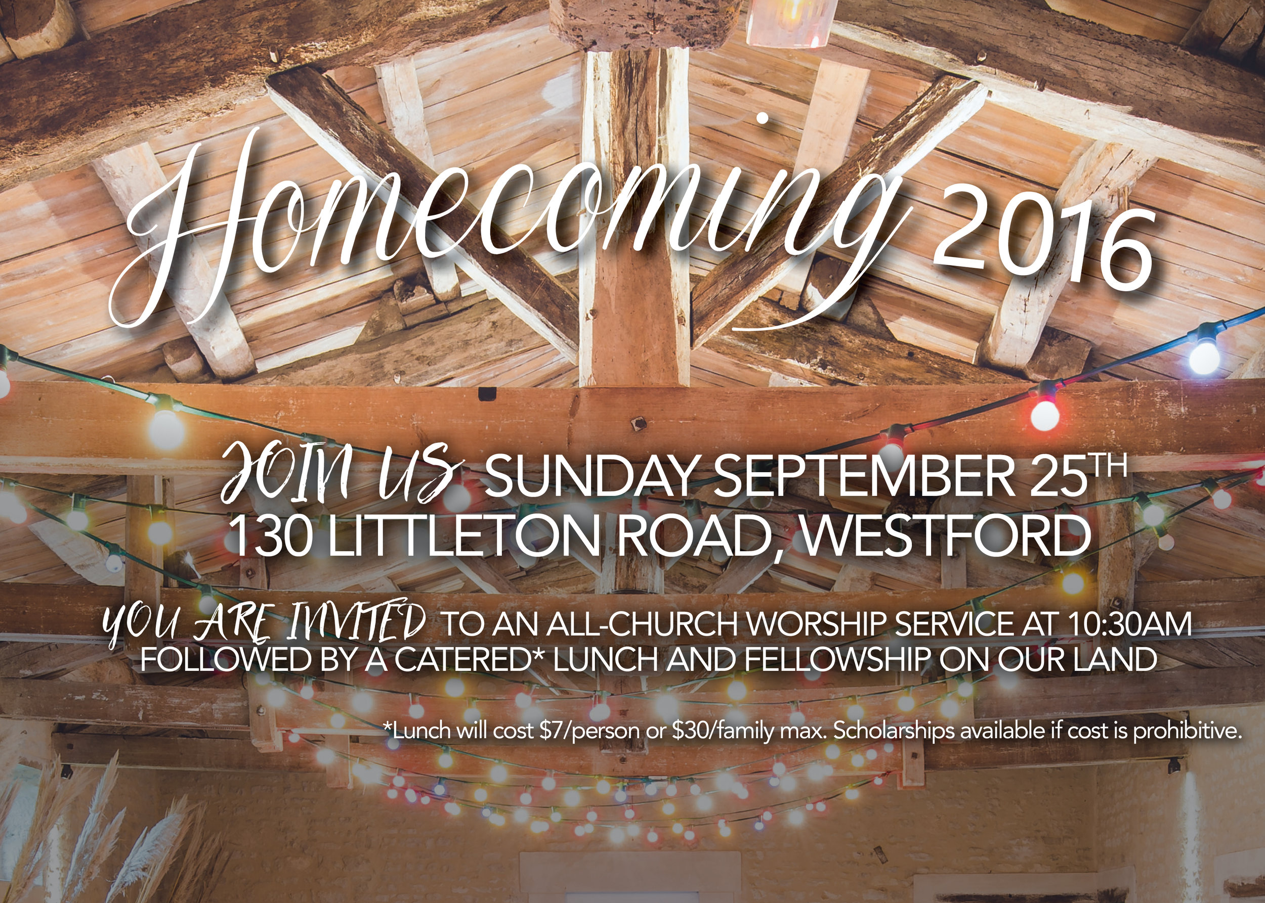 Join us at Homecoming 2016, sign up by clicking here!