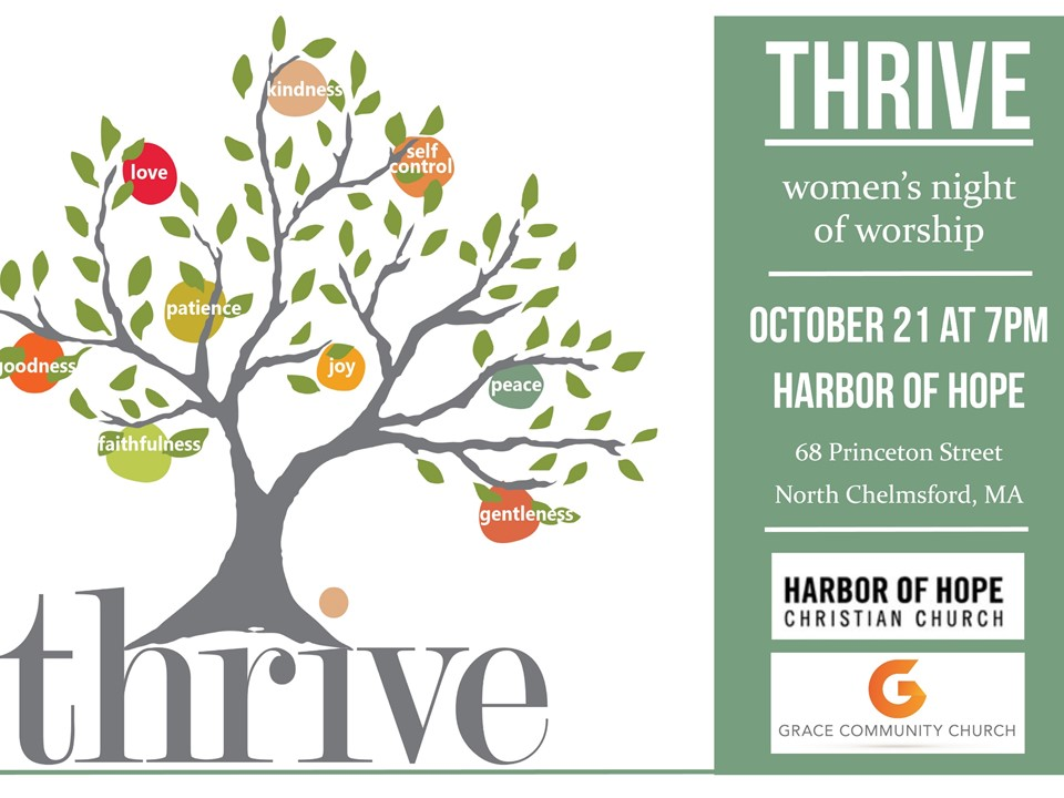 Women of Grace Community! Please join us at our next Thrive event.