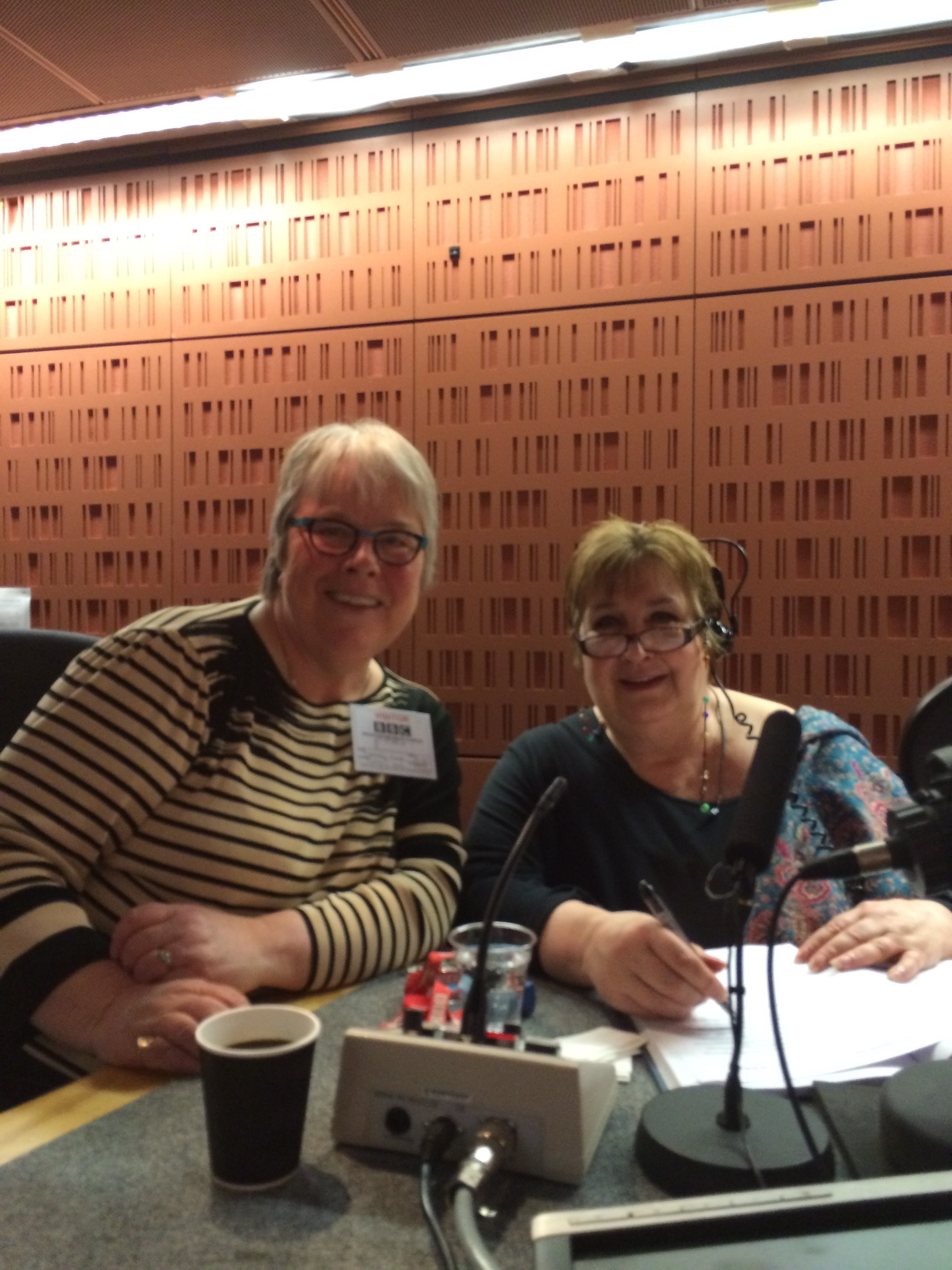 In the Woman's Hour studio with Jenni Murray