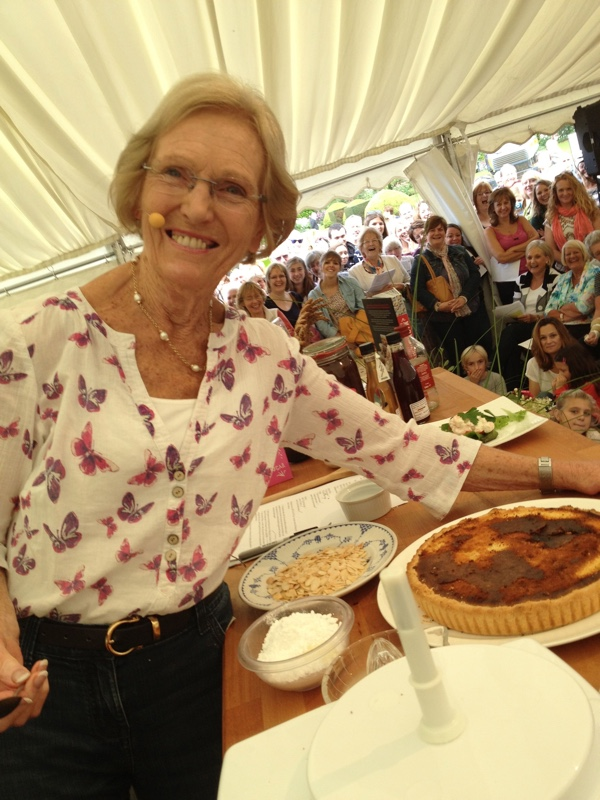 Mary Berry and the burnt tart