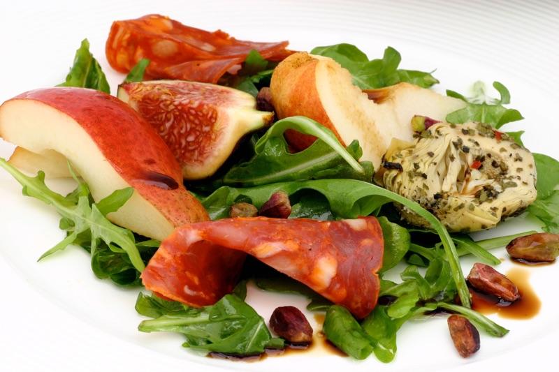 An Autumn pear salad