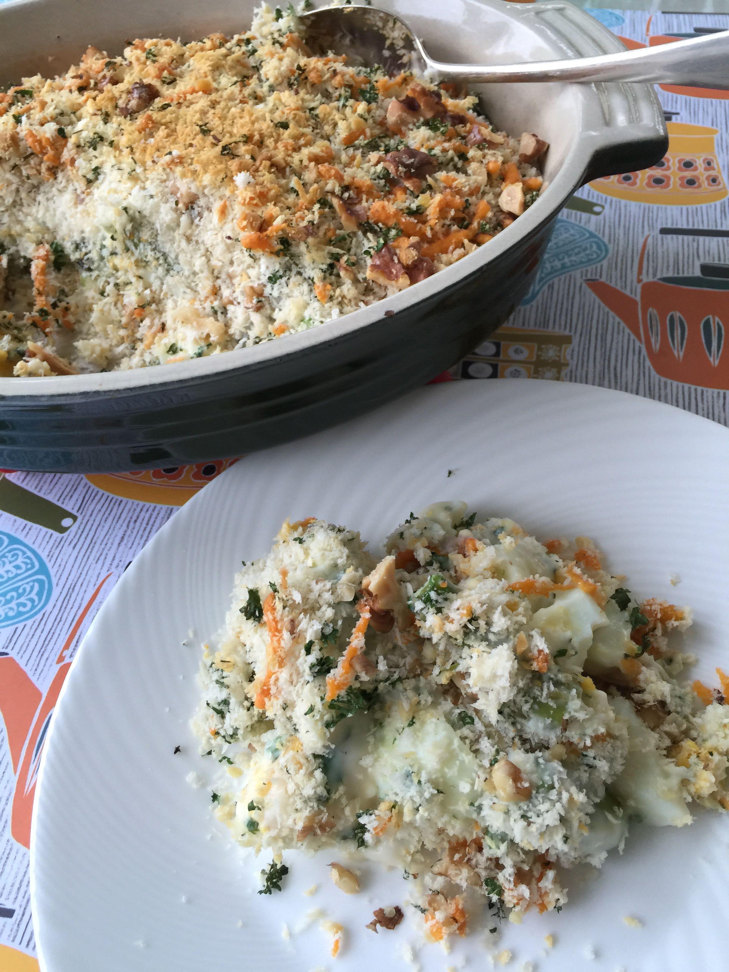 Asparagus and egg crumble