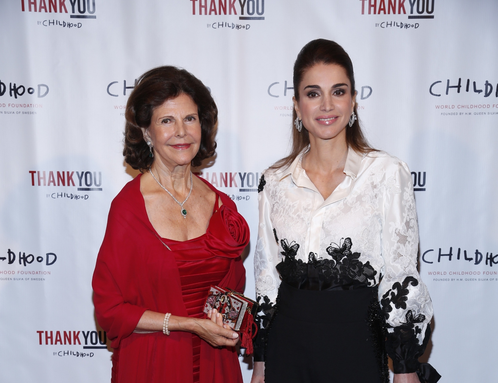 HM Queen Silvia and HM Queen Rania