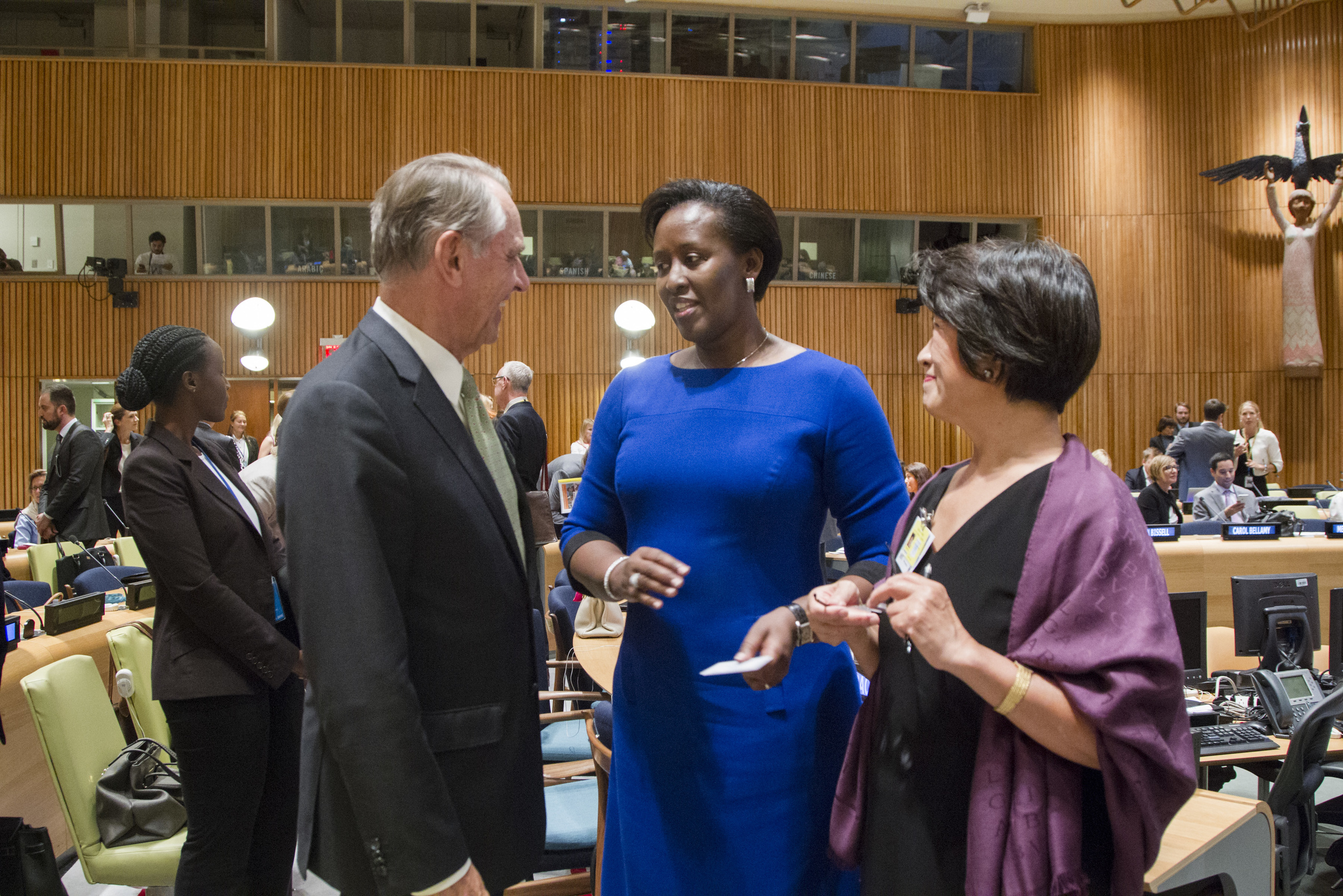Jan Eliasson, Dho Young-Shim, HE Jeannette Kagame