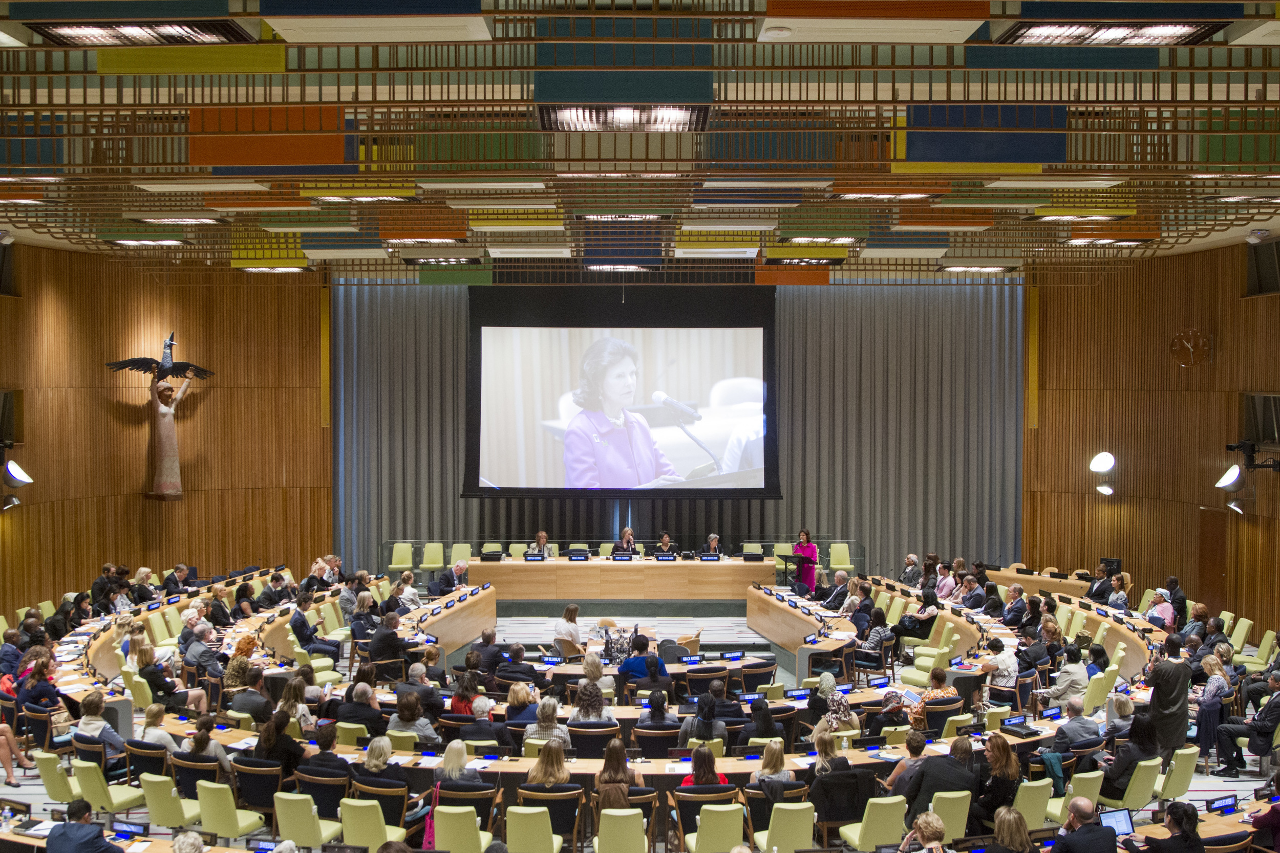 """Childhood USA co-hosted """"Children and the Sustainable Development Goals; Giving Every Child a Chance"""", in the Trusteeship Council at the United Nations in New York. 300 were in attendance."""