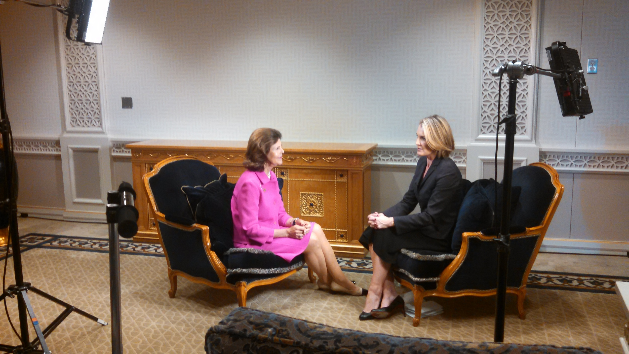 HM Queen Silvia's interview with CNN International's Robyn Curnow