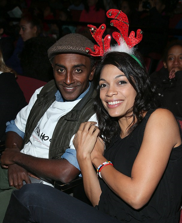 Chef Marcus Samuelsson and actress Rosario Dawson representing Childhood USA in West Harlem.