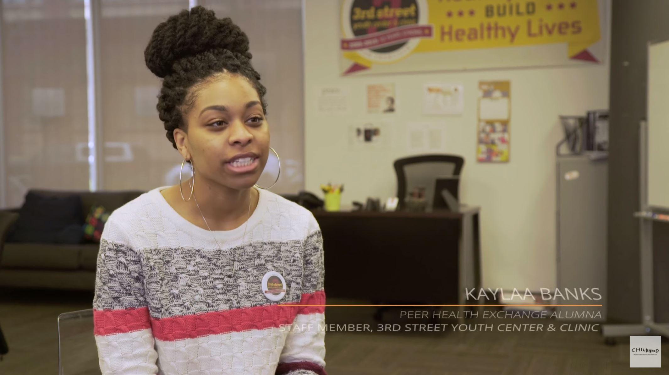Filming Kaylaa Banks, PHE Alumna