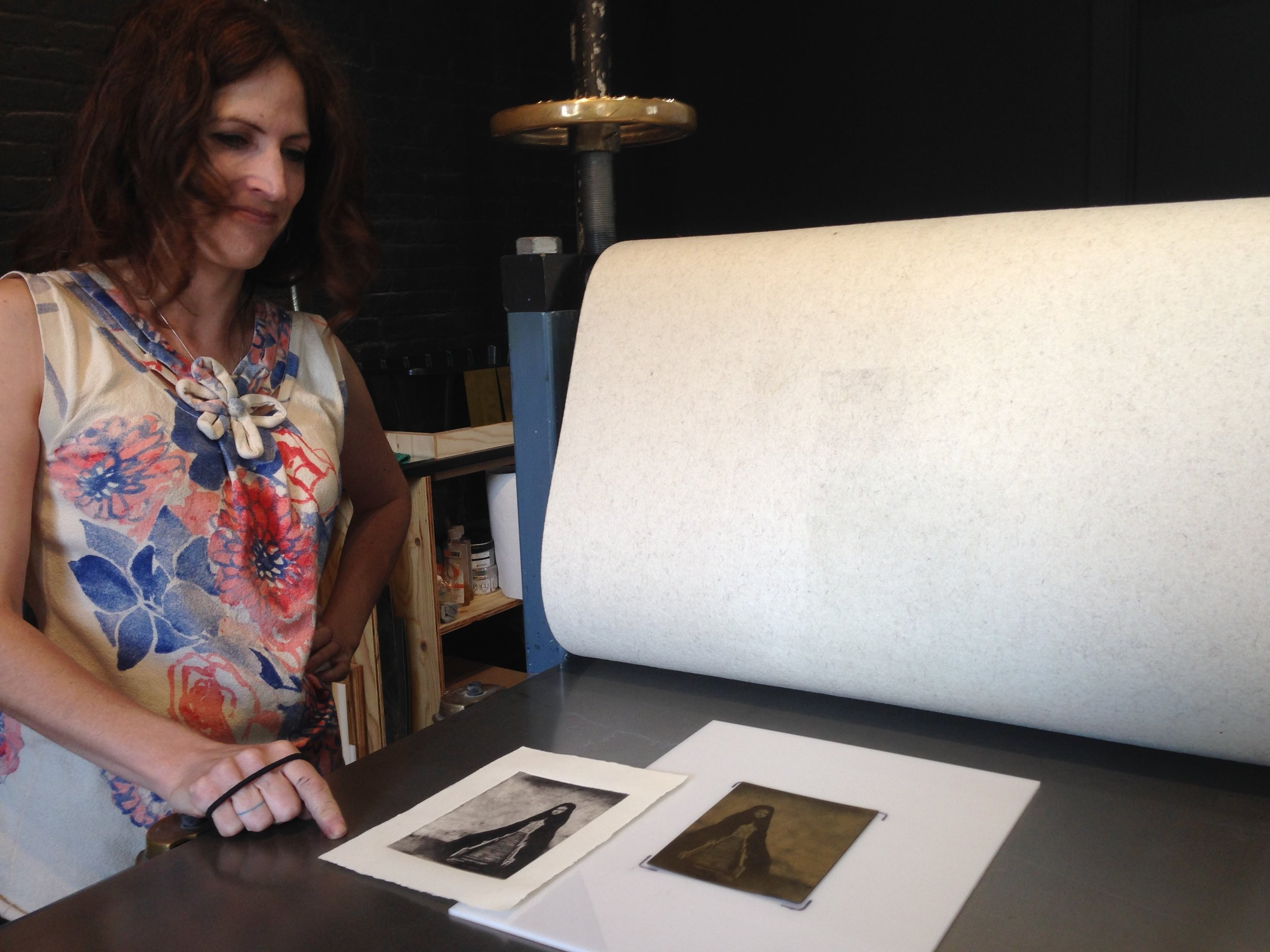 Processus member Sherry Hern in 2015. Polymer etching.