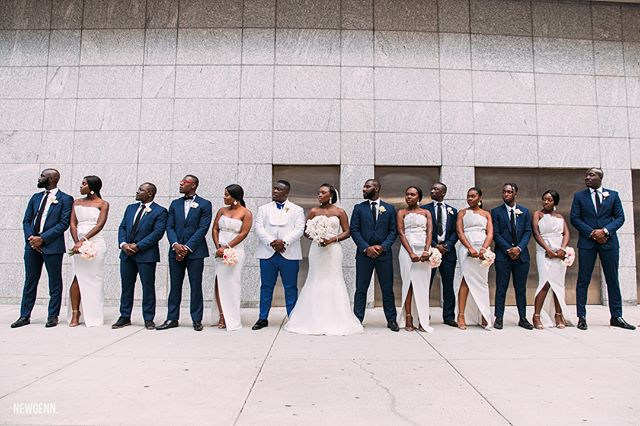 Squad ain't nothing to mess with 🤙🏿 . . Wedding planners: @afradj_exp  Makeup: @irobincredible  Hair: @royalxclusivehair  Decor:  Floraltology LLC  Videography: @authenticike  Suit: @obobo123  Photography: @newgenn_photography // @e_fresh_ / @ezechivste #theobunion