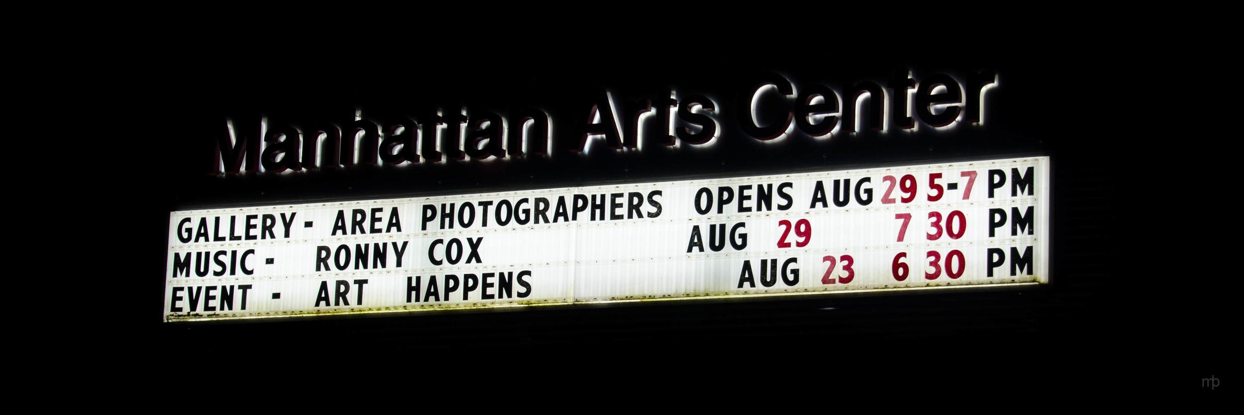 Manhattan Arts Center Sign.