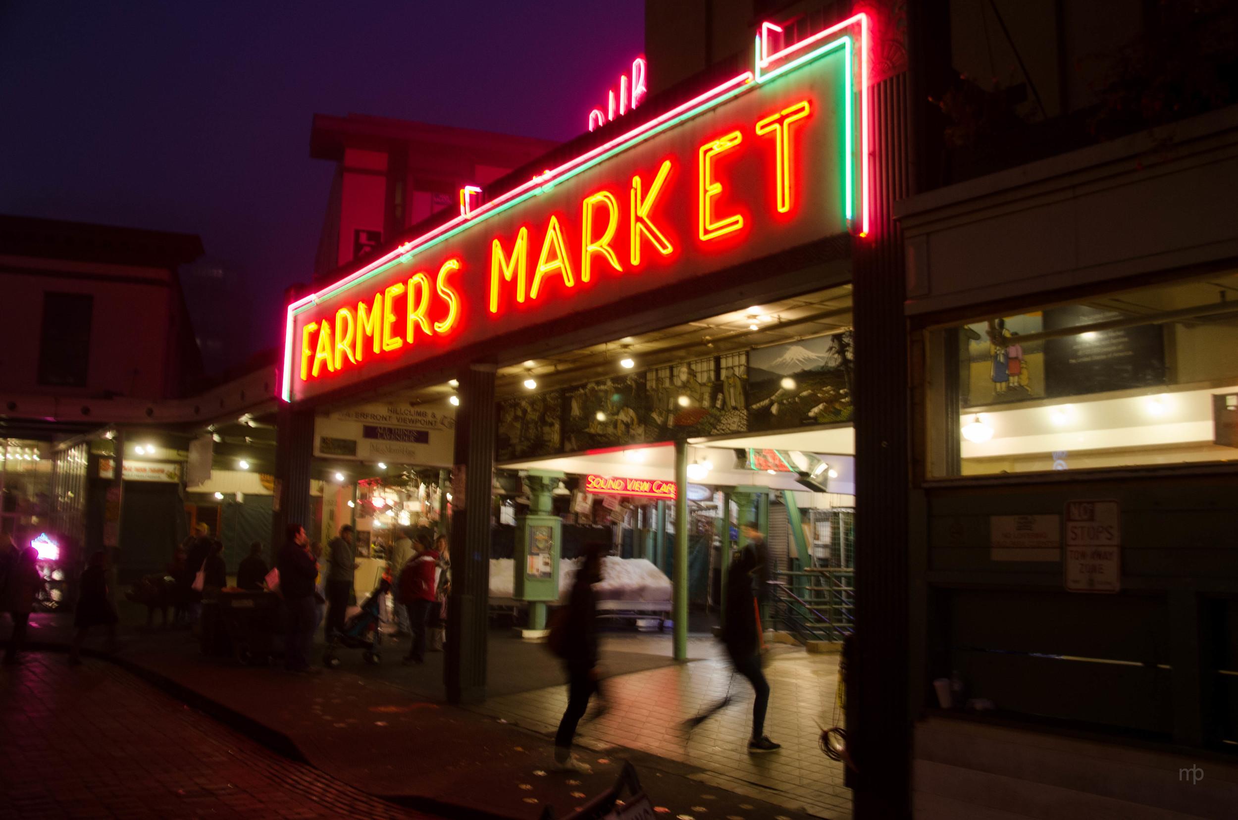 Farmers Market. The famous Pike's Place Market in Seattle, WA. Seattle 2013