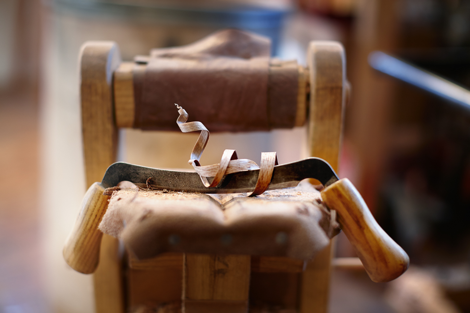 editorial detail of a wood workers plane