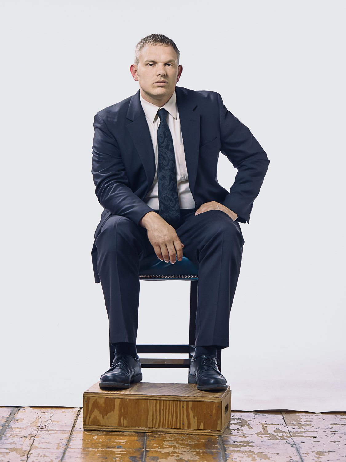 business man sitting in a chair