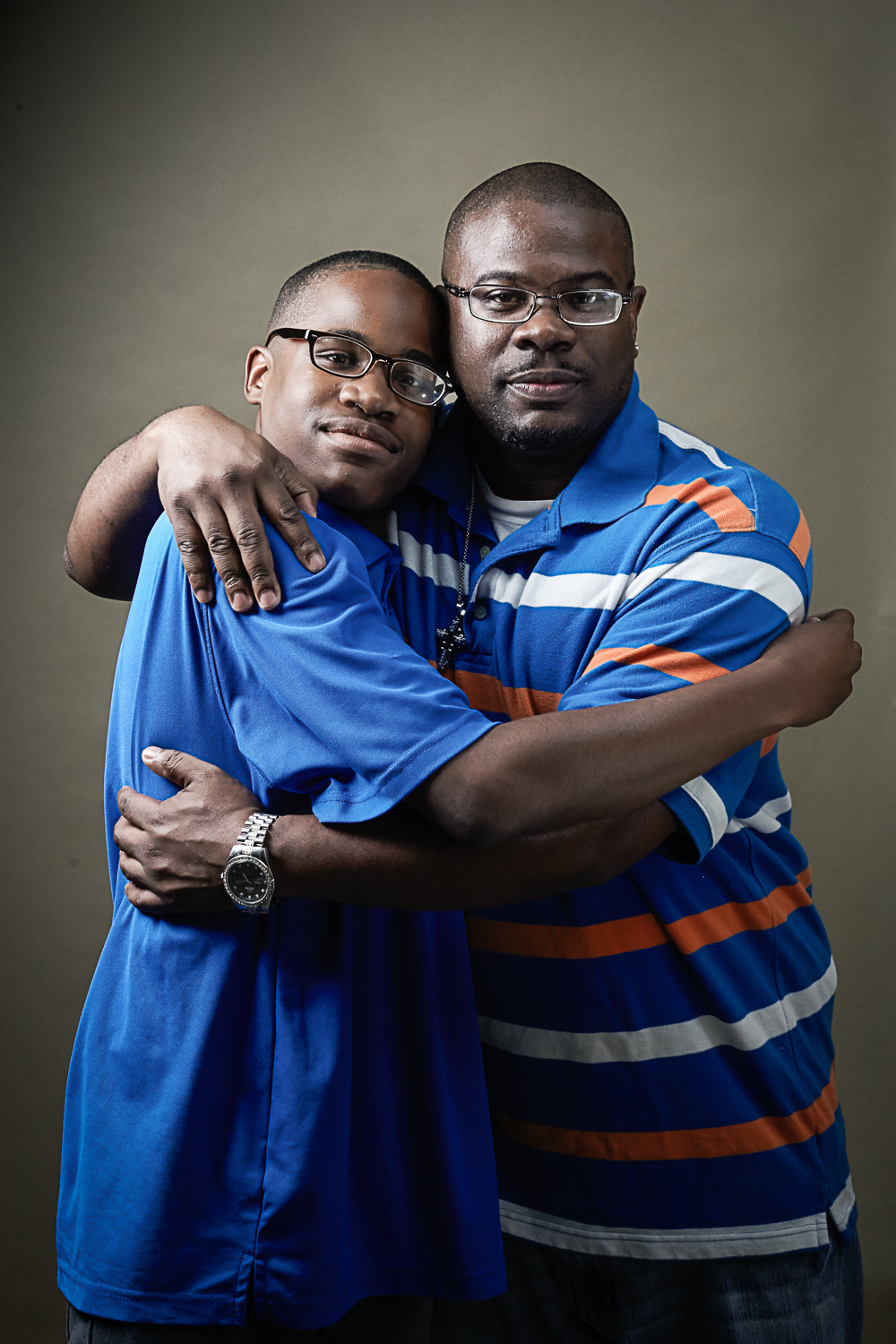 africian american father and son