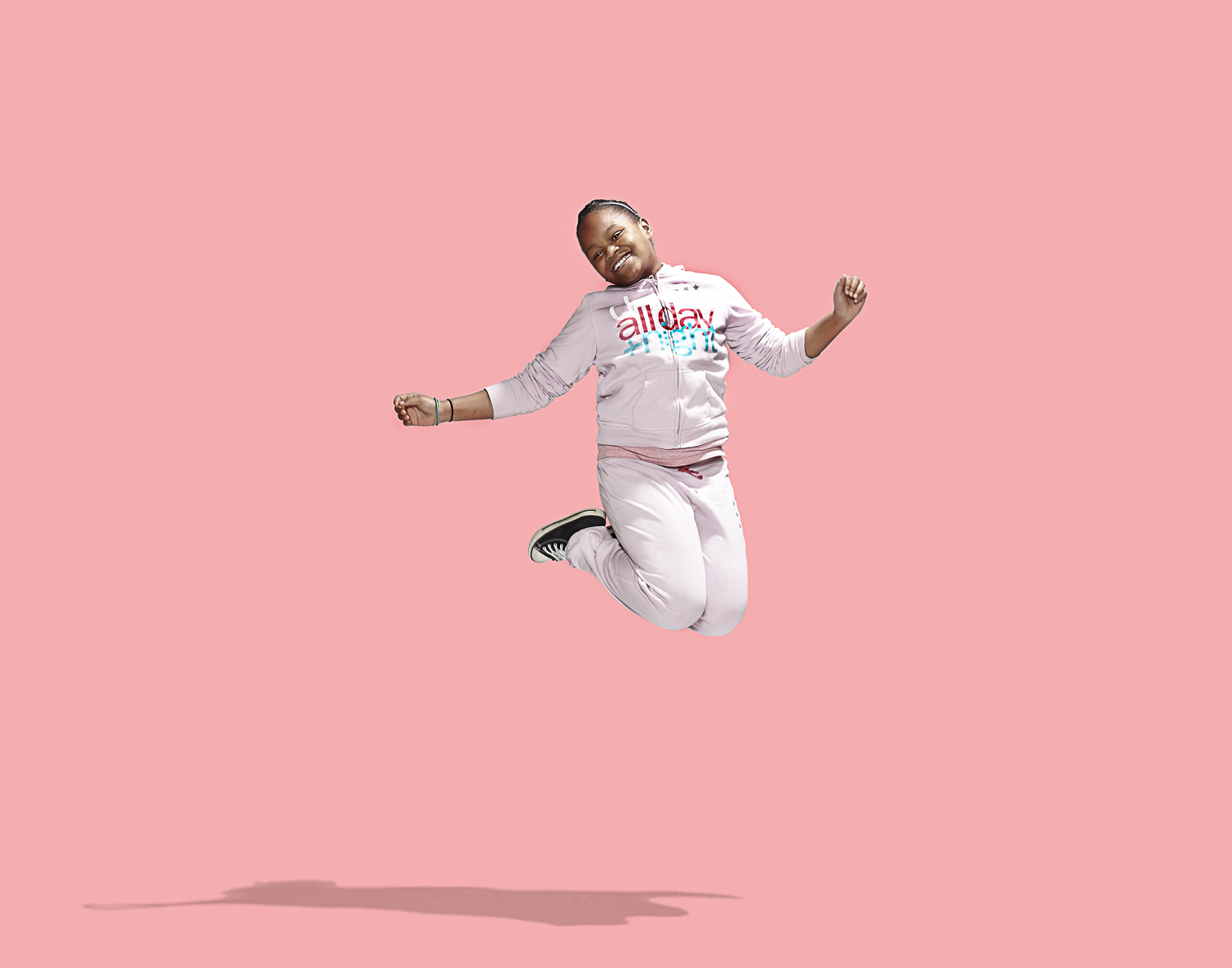 africian american child jumping