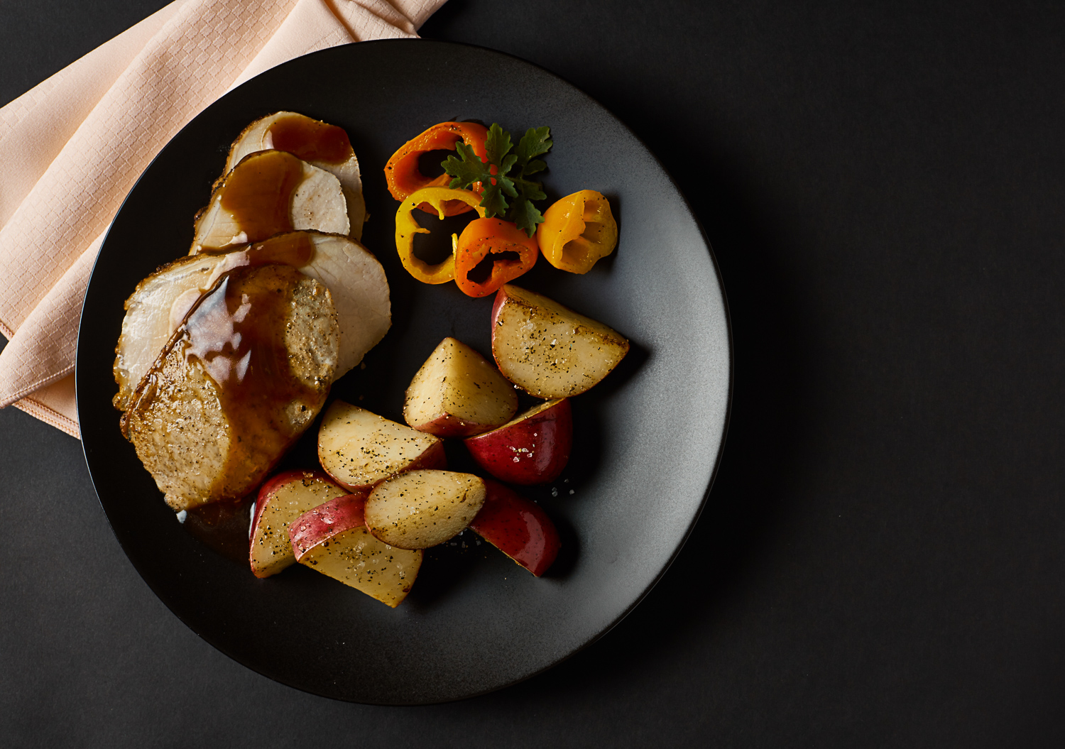meat and potatoes on a plate
