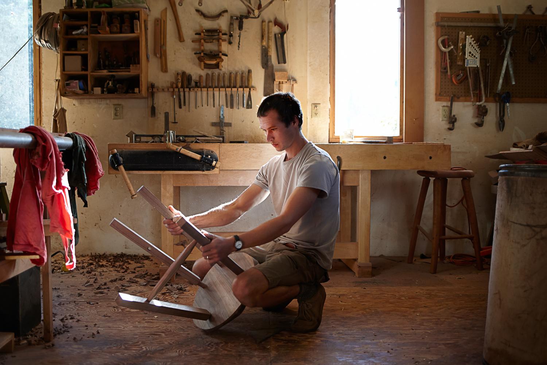 carpenter building a chair