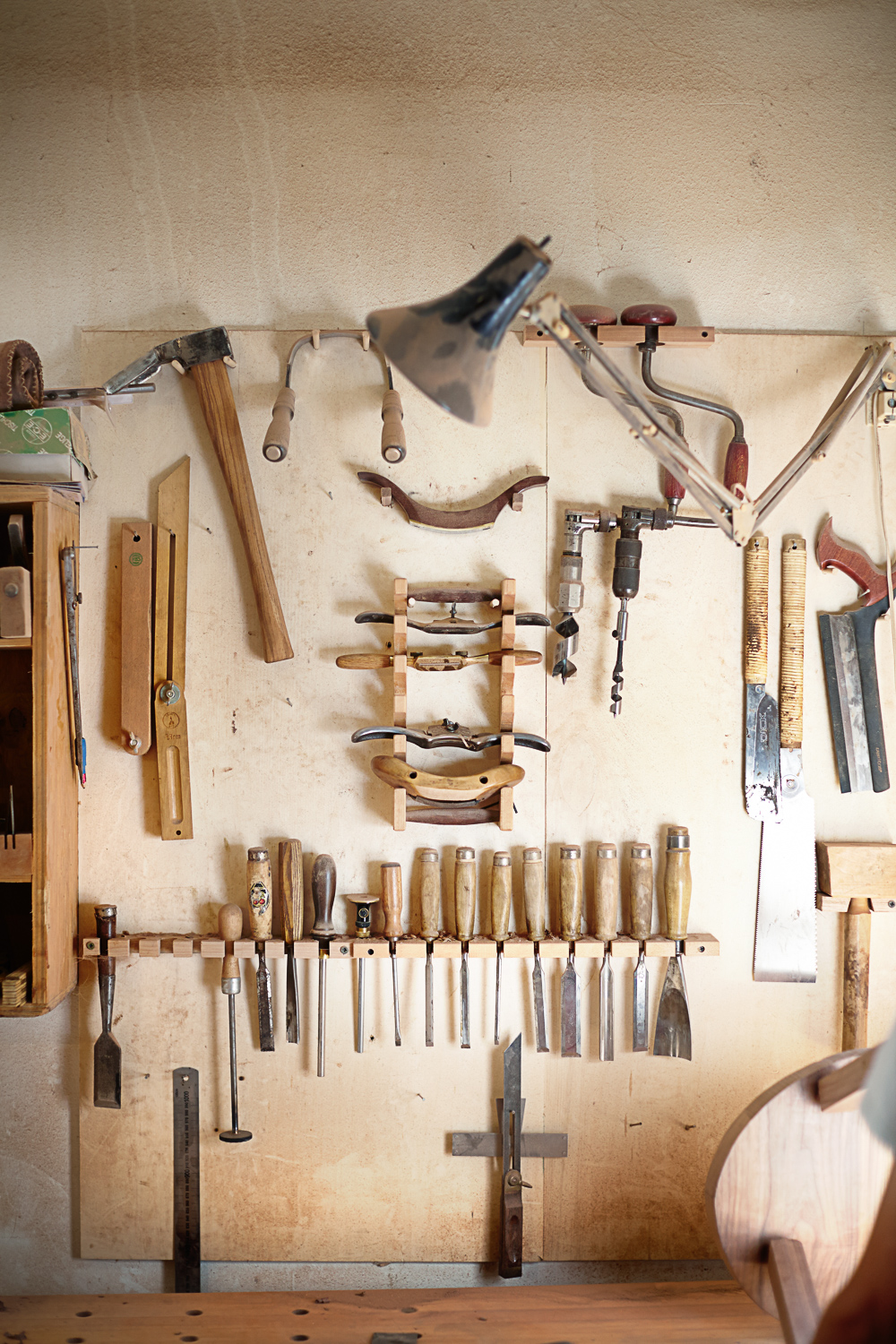 wall of wood working tools