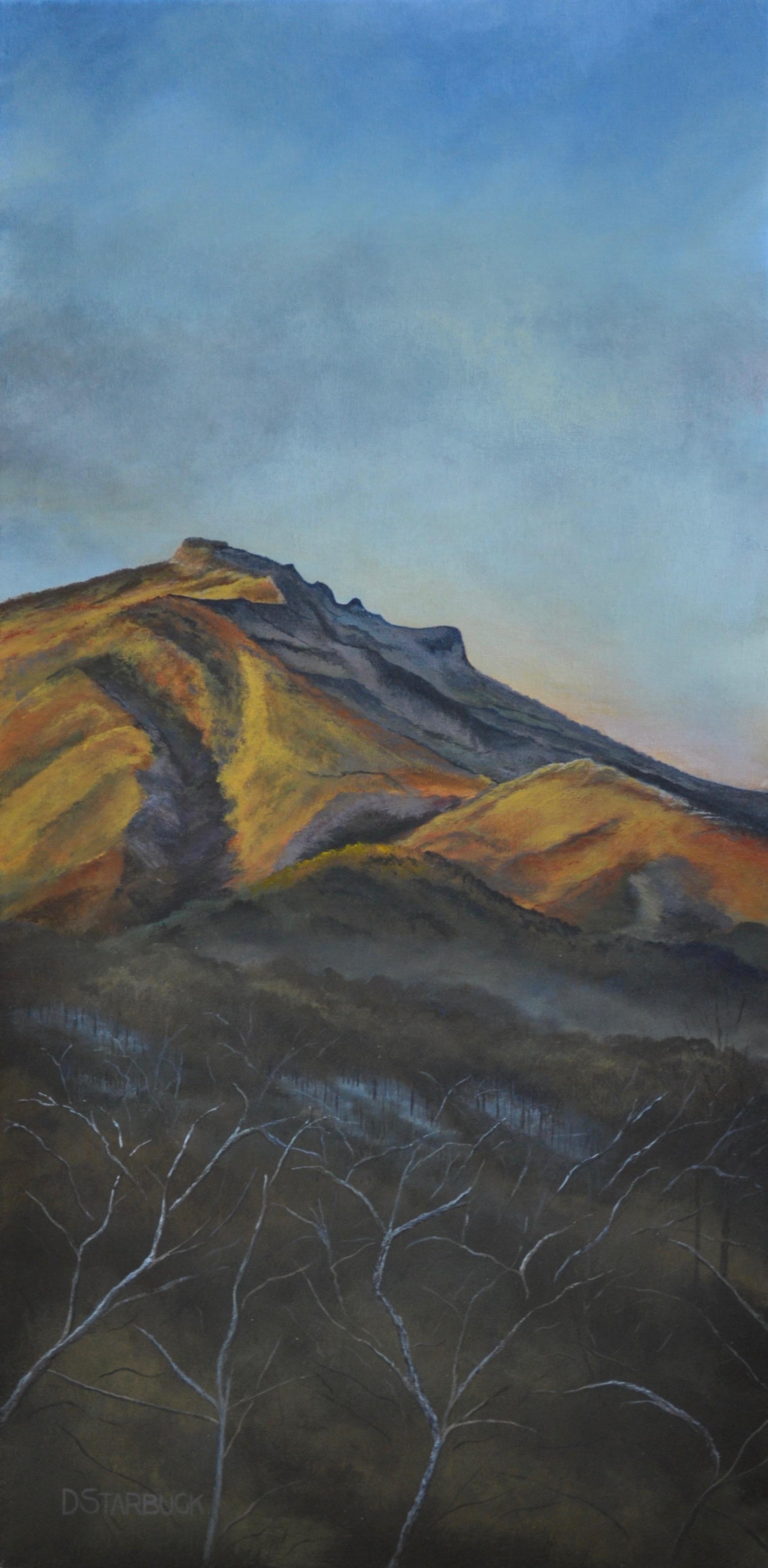 """A Slice of Grandfather Mountain"" Blowing Rock, North Carolina  Original: Acrylic on Linen, 12"" x 24"""