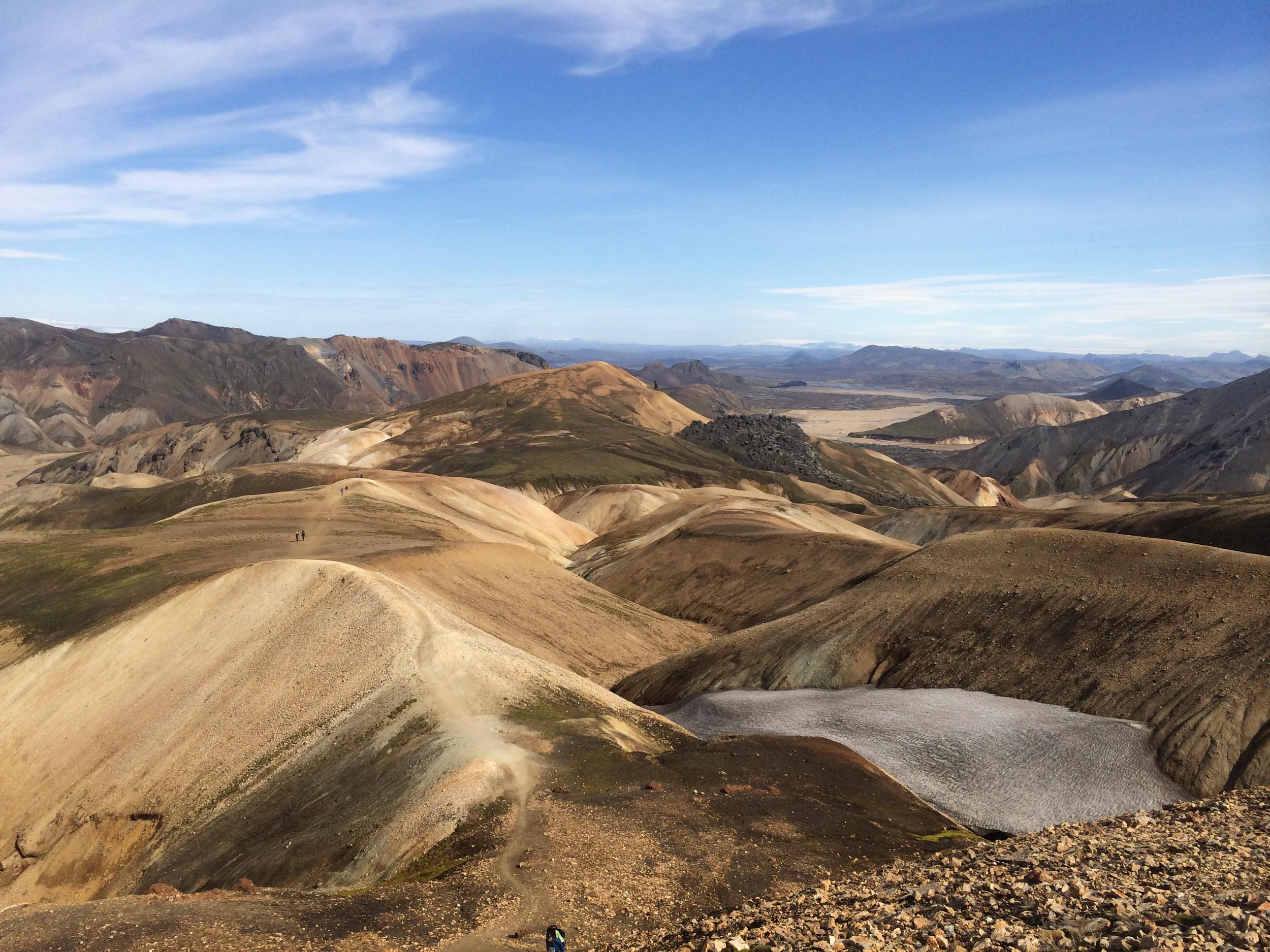 Popular trail on yellow-brown rhyolite soil