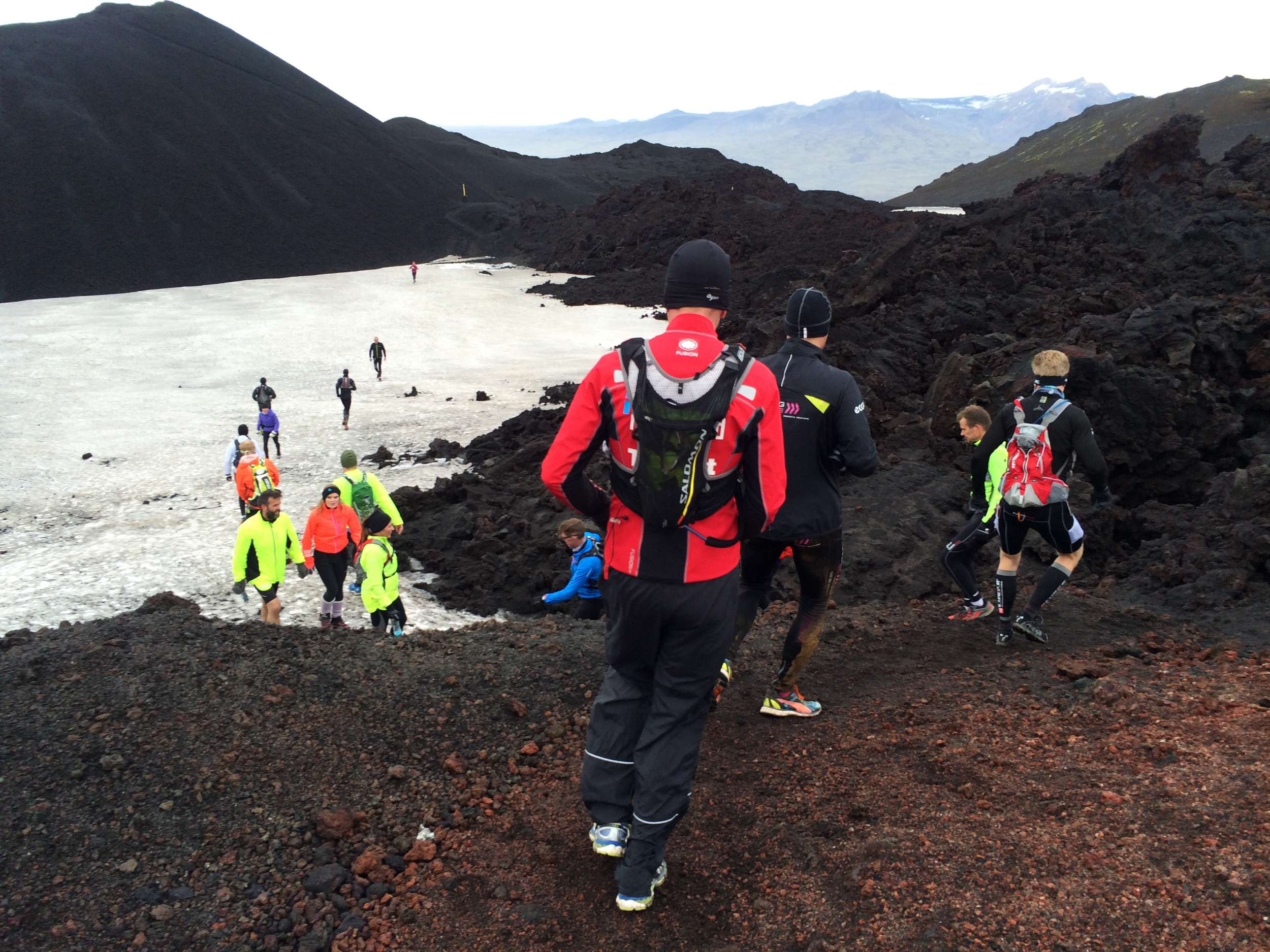Running on lava and snow