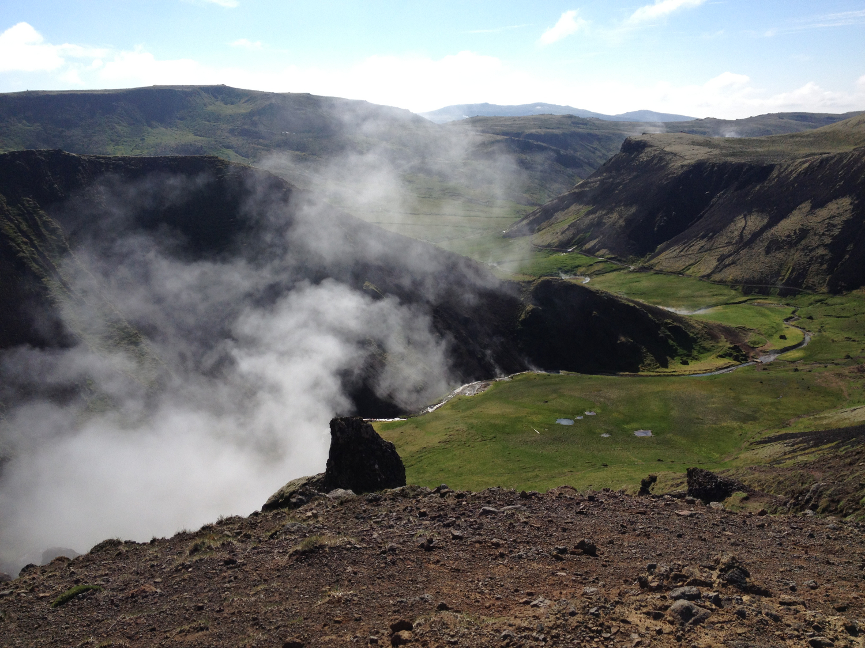 Geothermal mountain in Reykjadalur