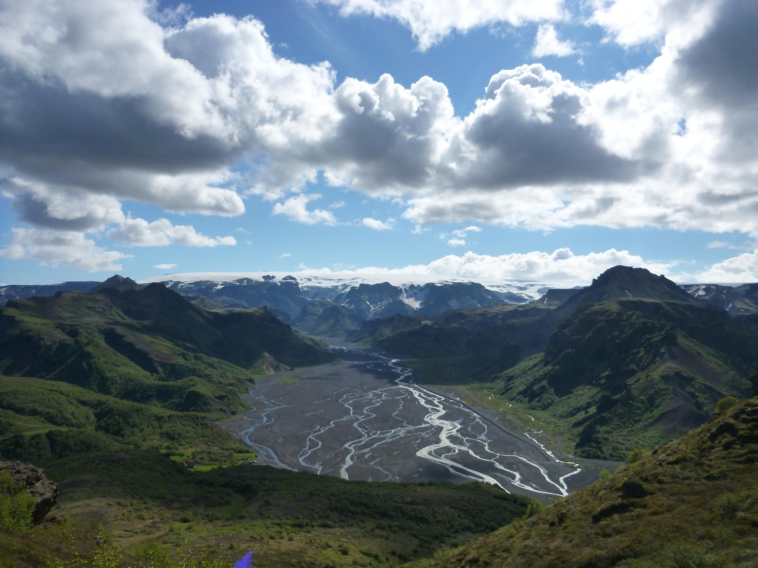 Thorsmork amazing running view