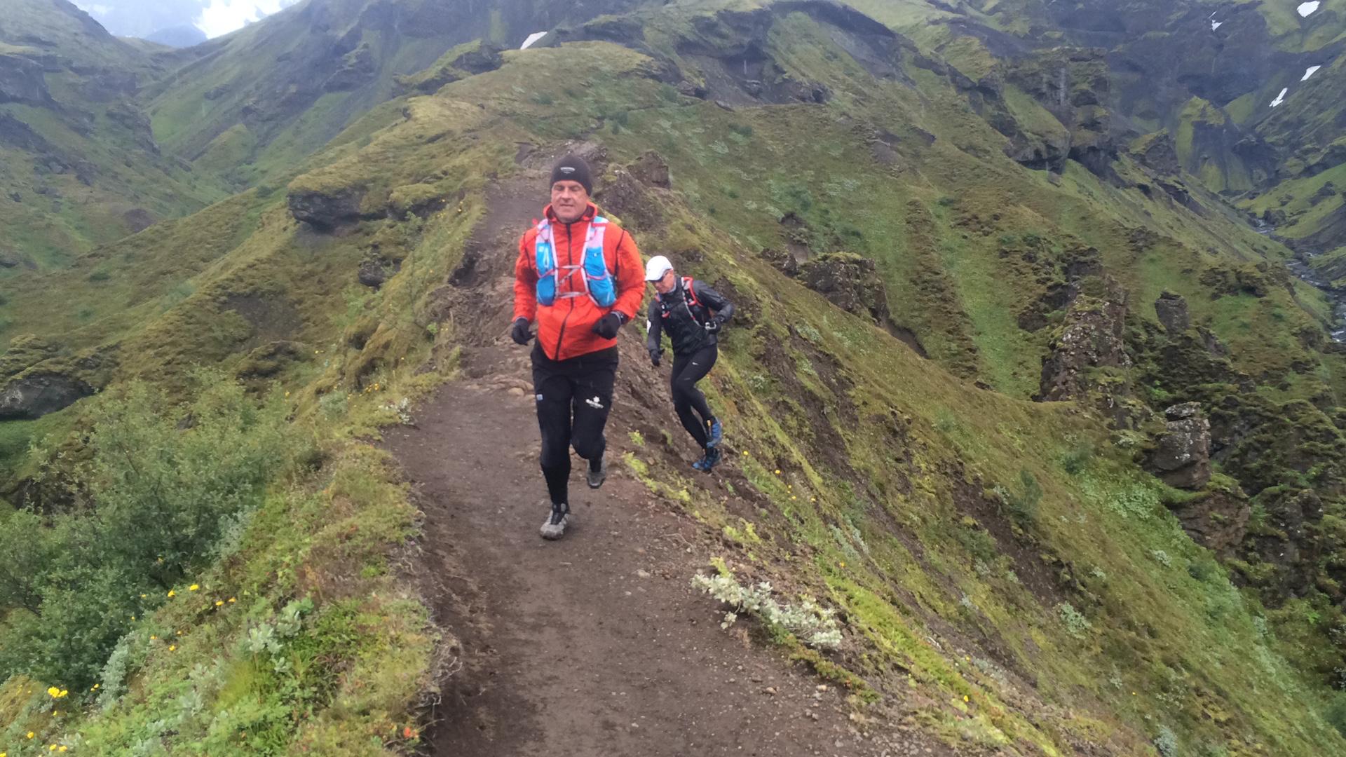 Running on a Mountain ridge