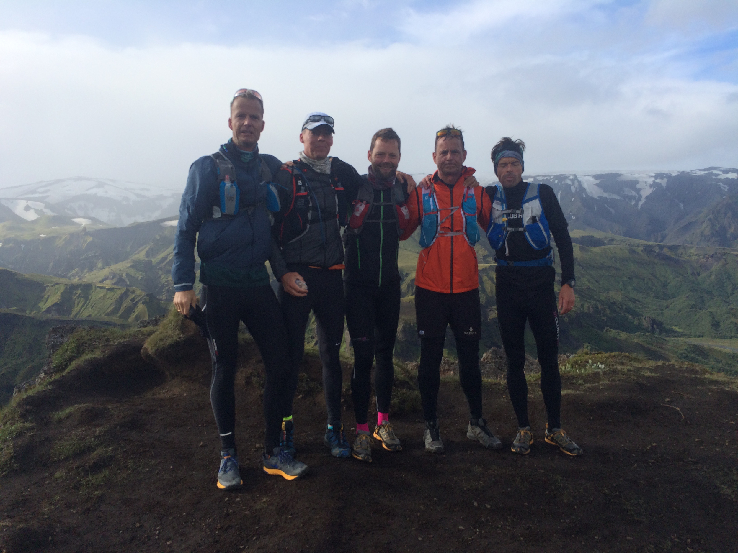 Runners take a break on the top