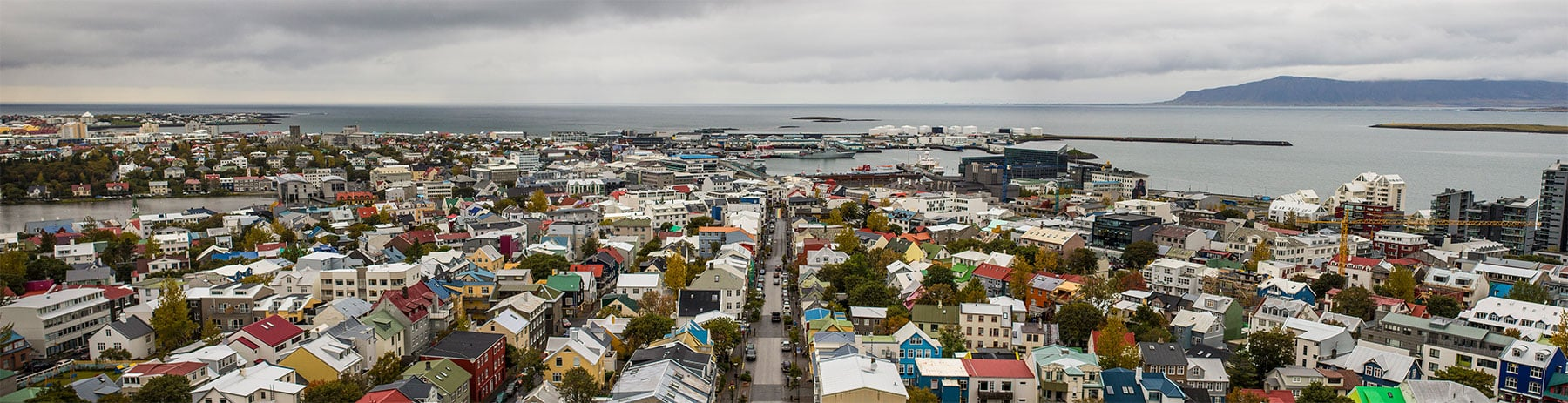 Head up the 73 meter (244 ft) tall Church of Hallgrímur, and get this quintessential view of Reykjavik.