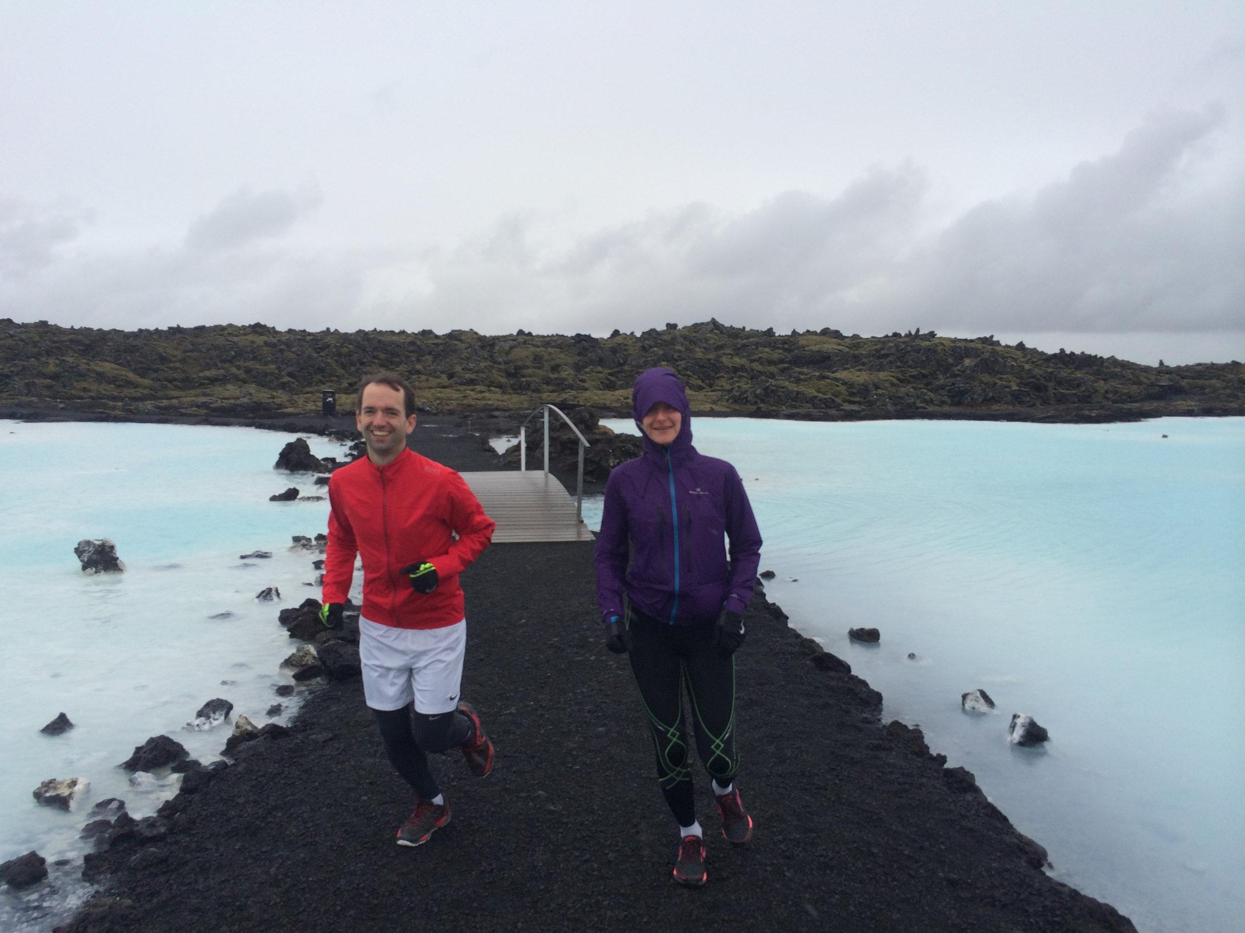 Iceland adventure running retreat     Fun run through a lava field