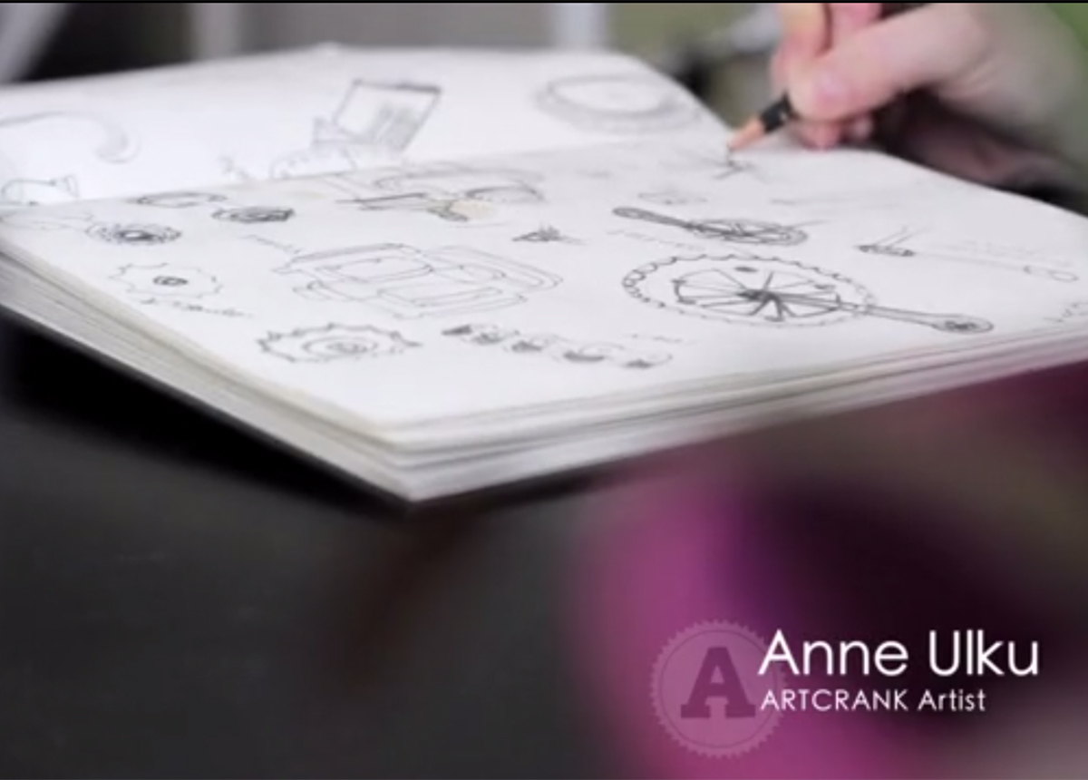 Anne Ulku Artcrank Build sketch video