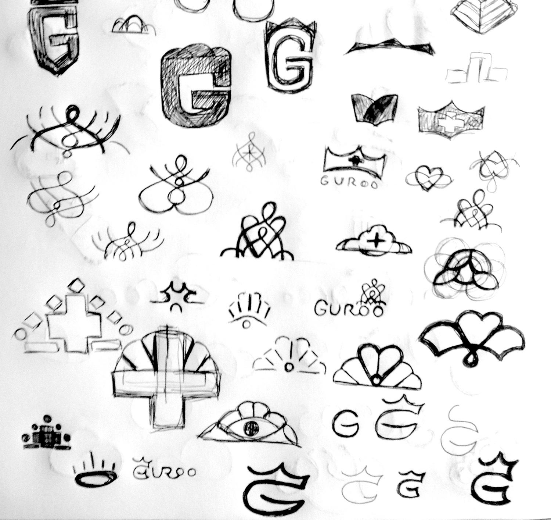 Guroo Logo sketches Anne Ulku