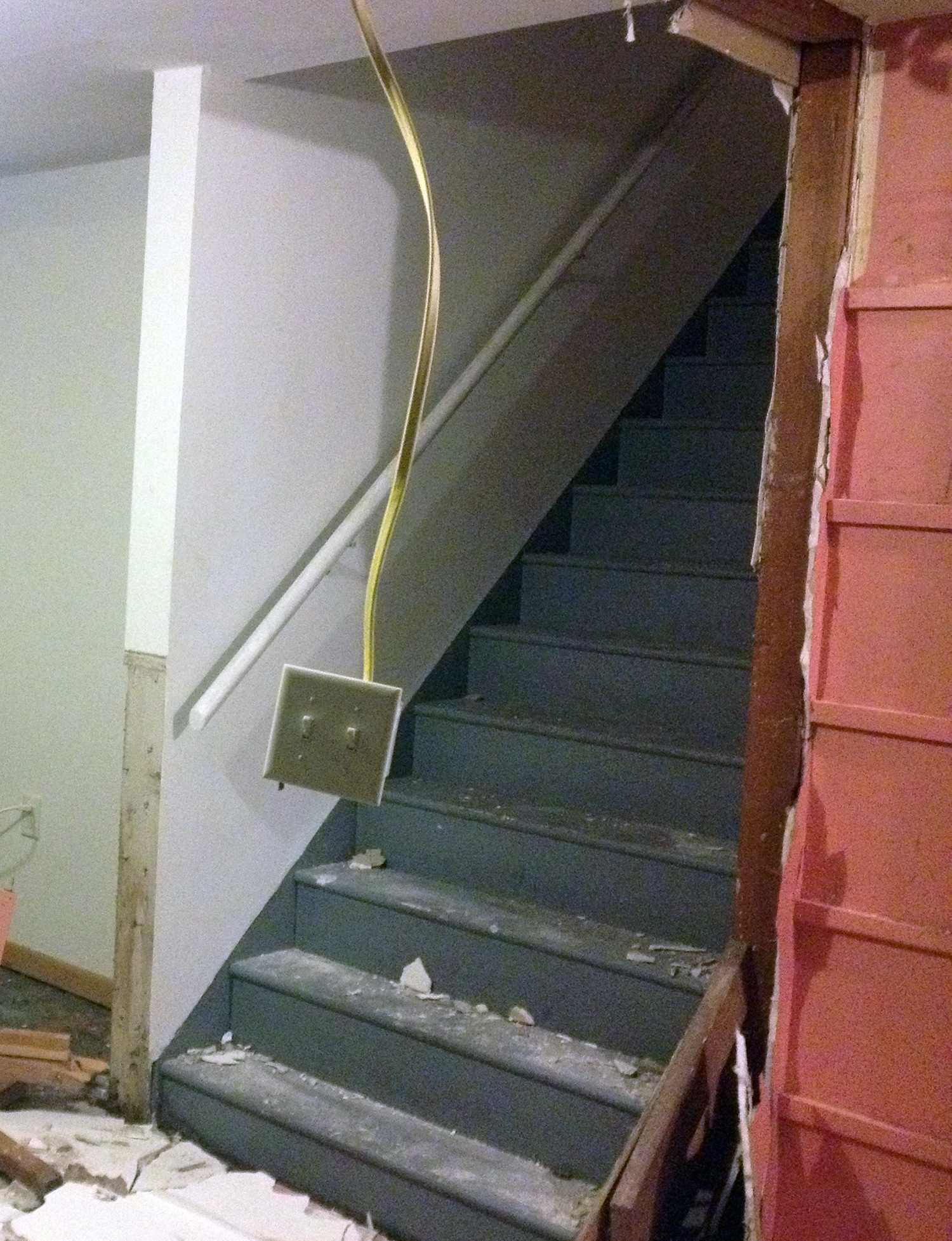 Old short stairs