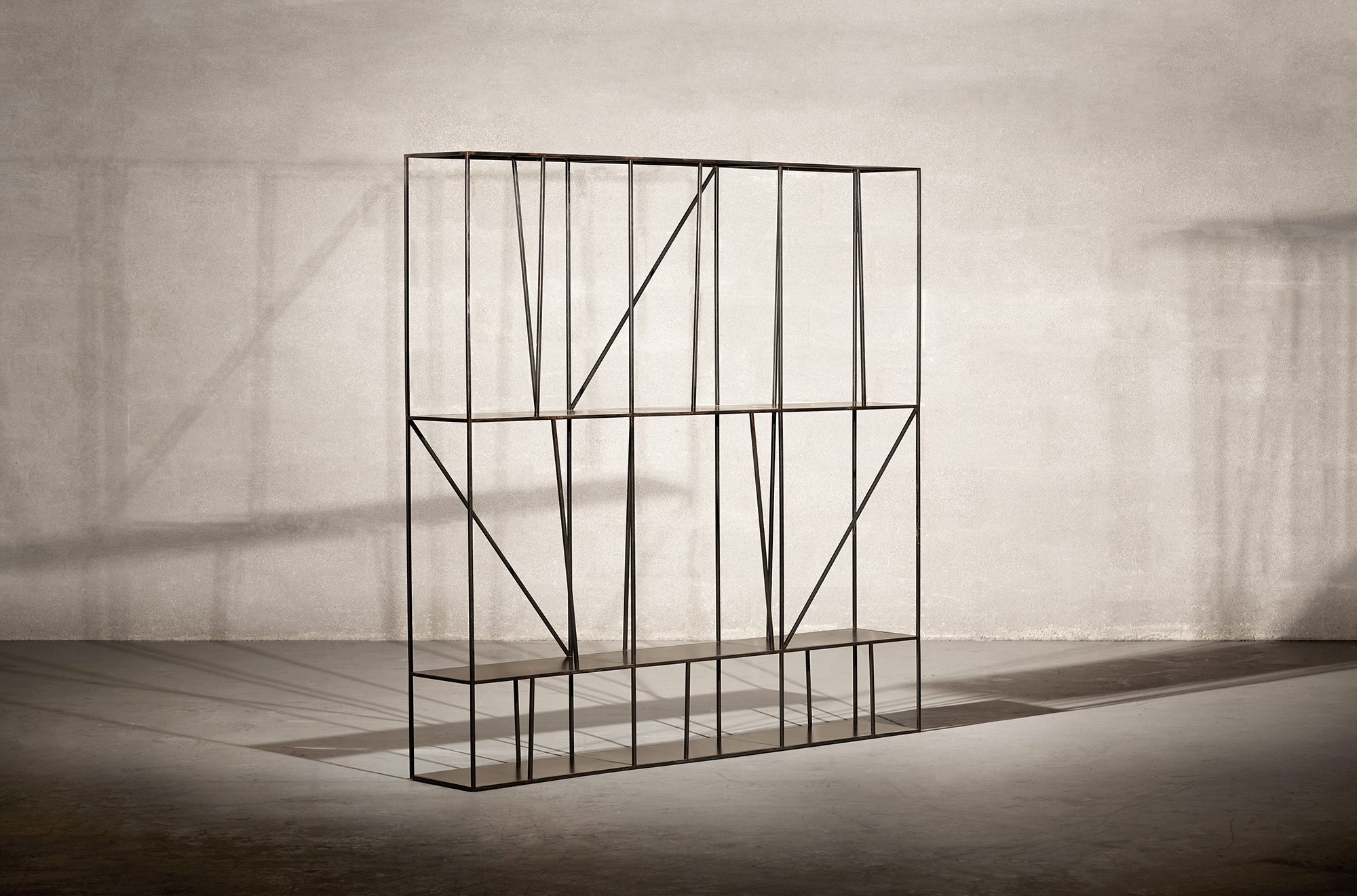 Staiths shelving unit, 2014