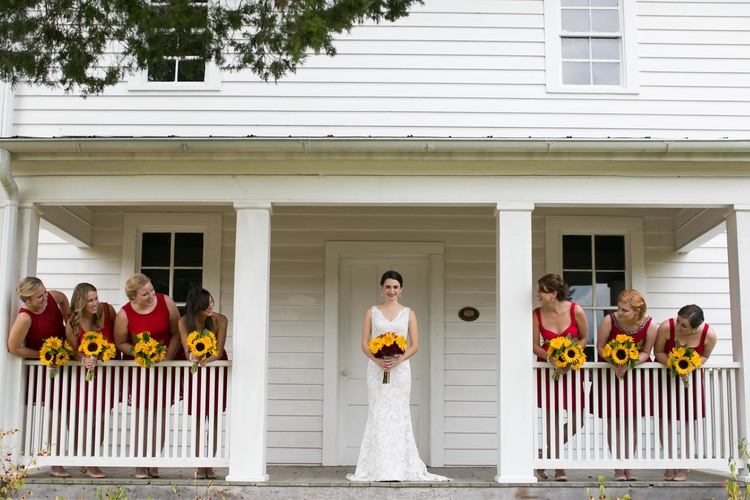 bride and bridesmaids travelers rest