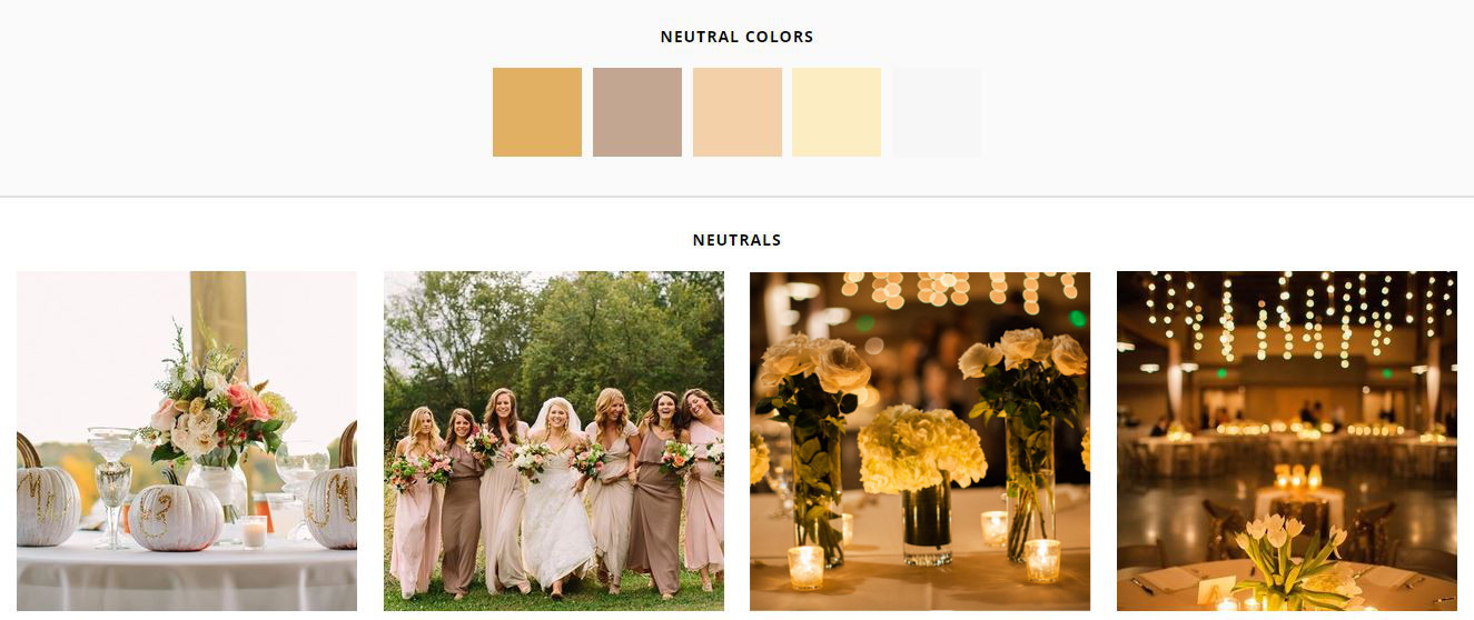 White paired with metals and neutrals makes a beautiful fall wedding palette (Rachel Moore photography, Jennifer Cody photography)
