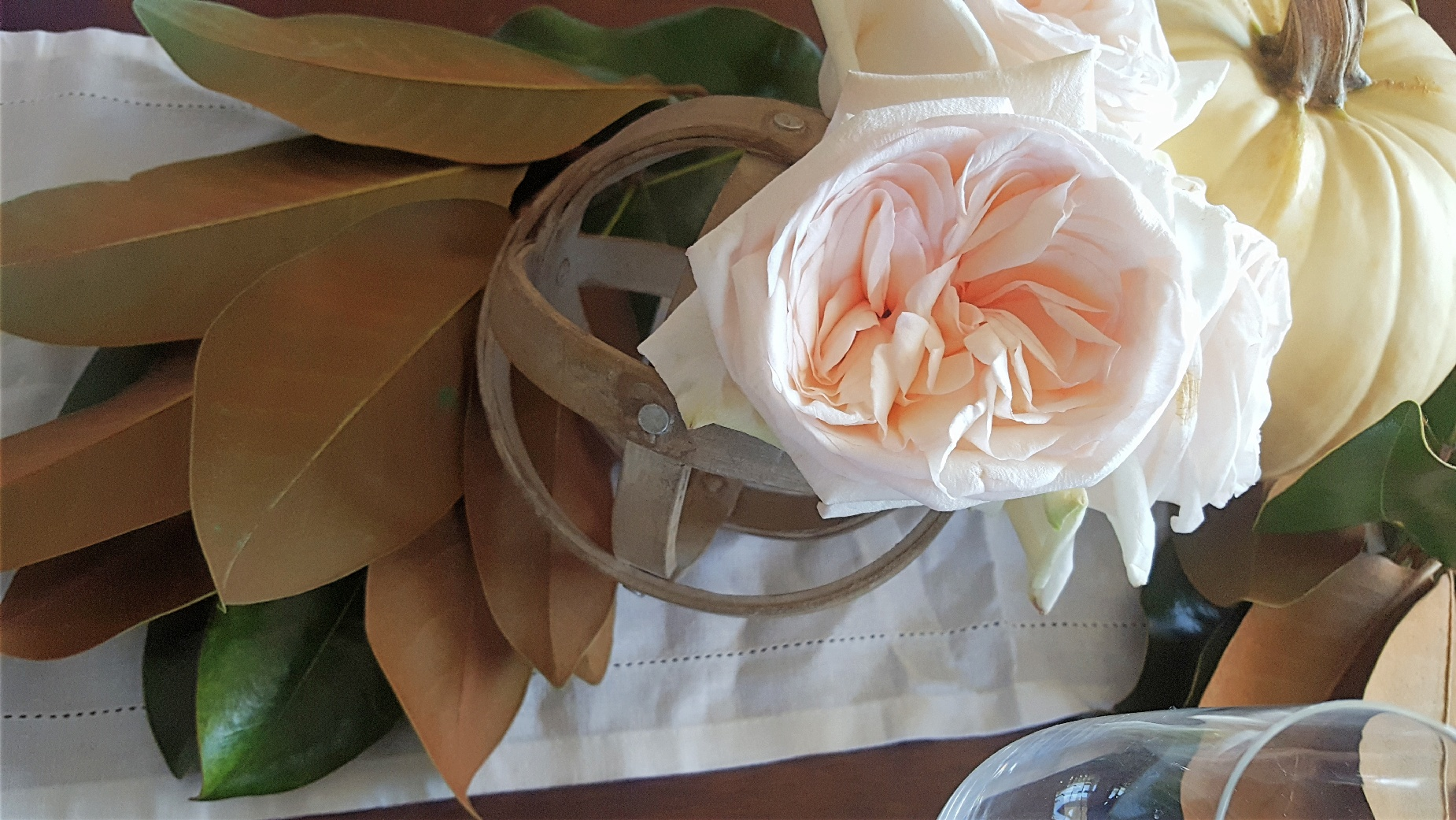magnolia leaves roses pumpkin.jpg