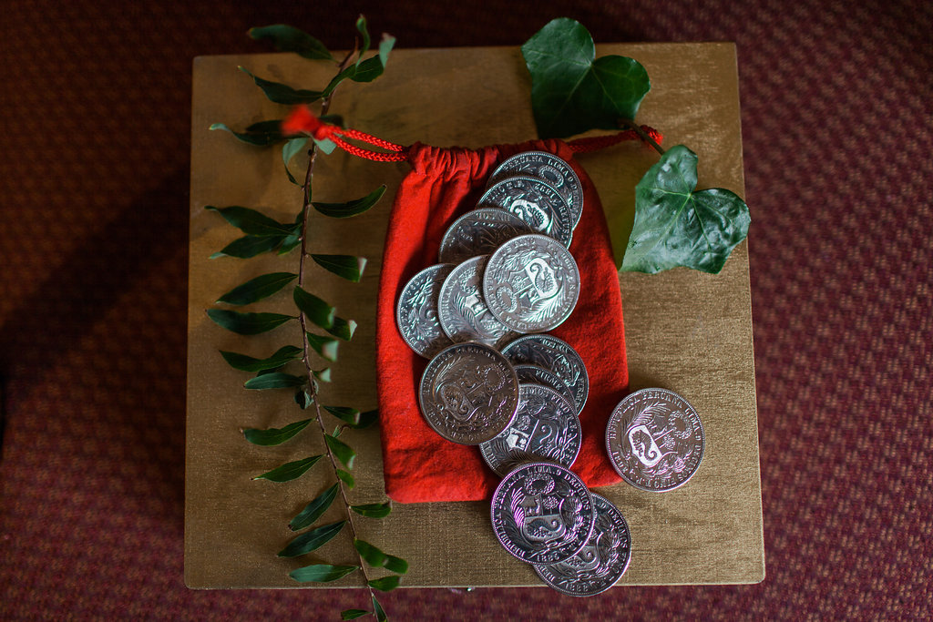 coin pouch for wedding ceremony