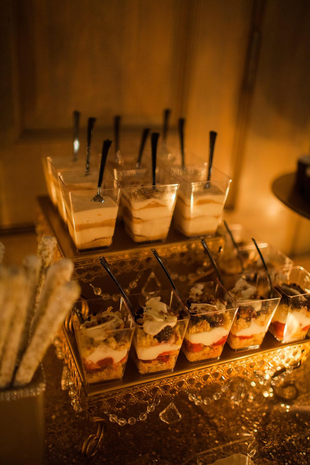 dessert parfait wedding reception