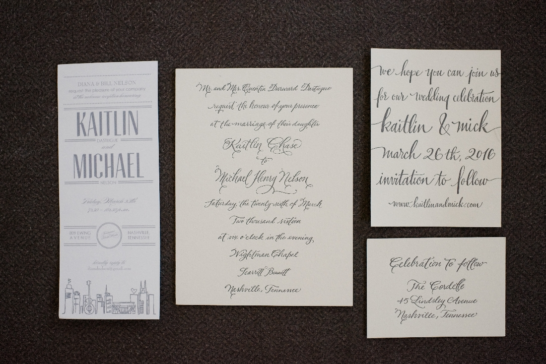 elegant stationery handwritten caligraphy