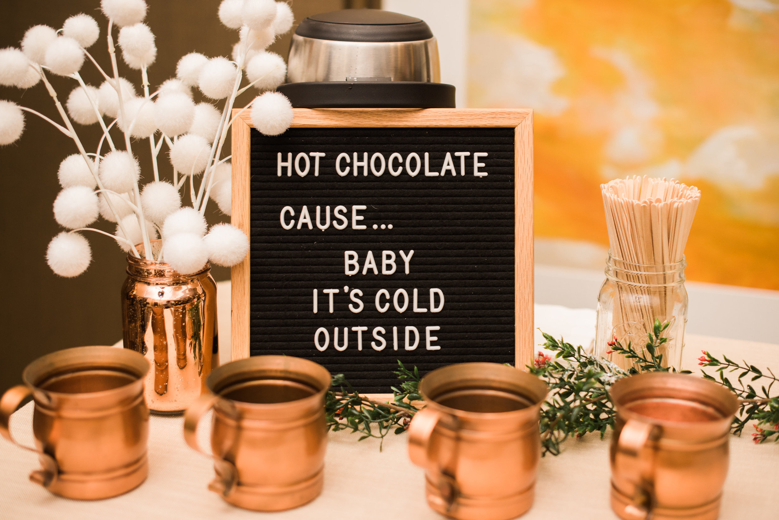 hot chocolate bar copper mugs.jpg